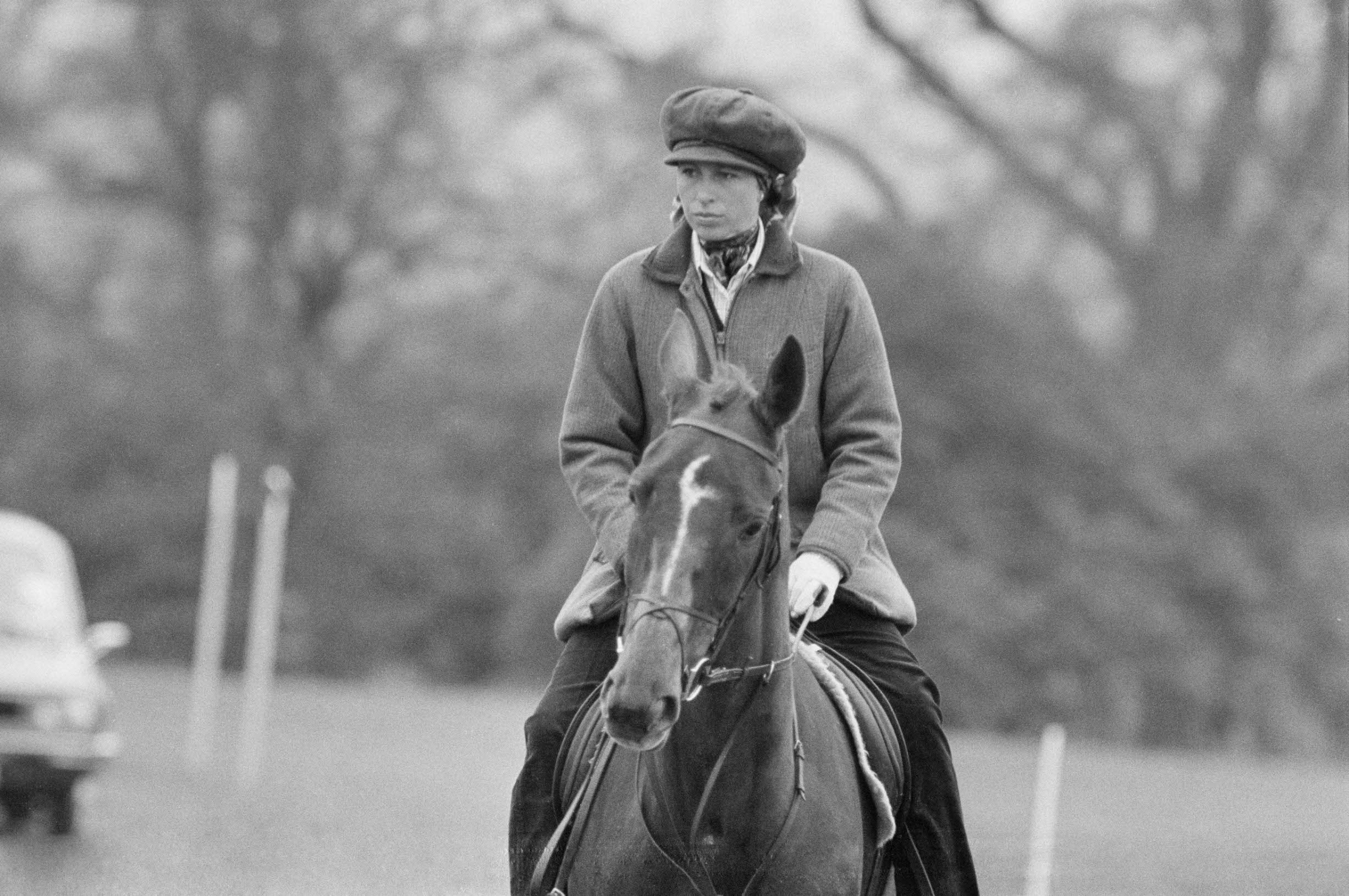 Anne, Princess Royal, riding a horse, UK, 25th April 1978. (Photo by Evening Standard/Hulton Archive/Getty Images)