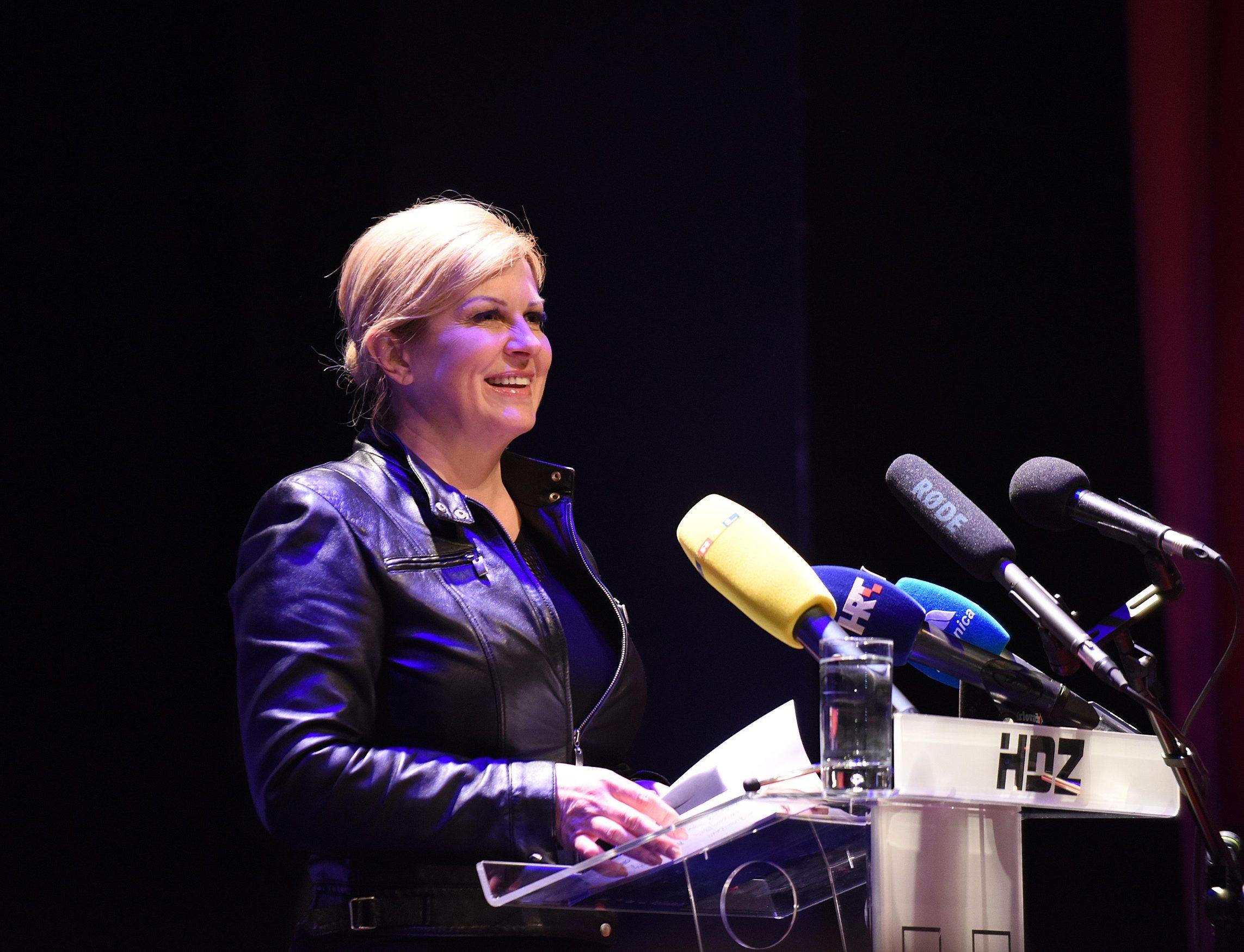 Kolinda Grabar-Kitarović na predizbornom skupu