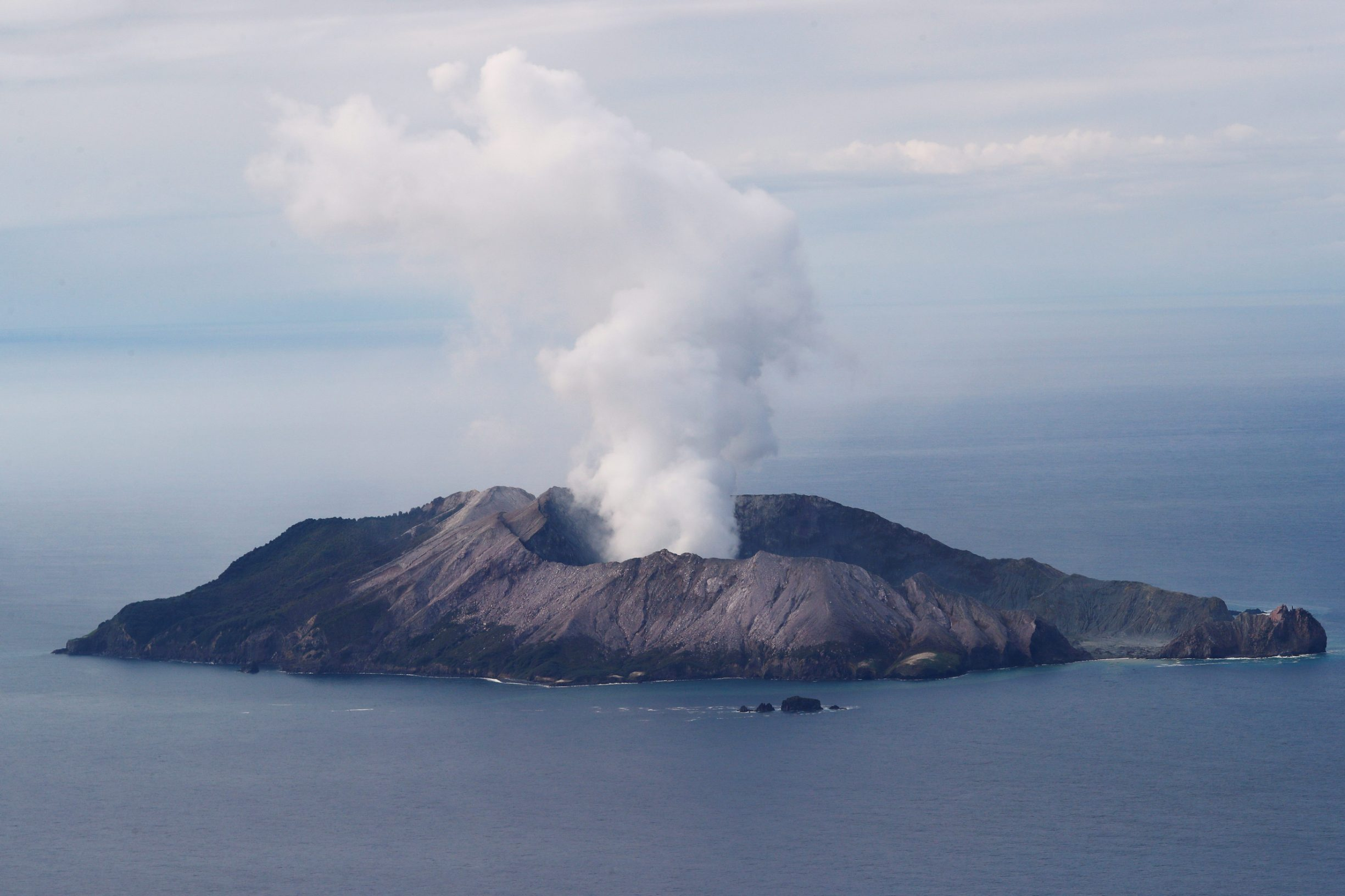 An aerial view of the Whakaari, also known as White Island volcano, in New Zealand, December 12, 2019. REUTERS/Jorge Silva REFILE - CORRECTING LOCATION