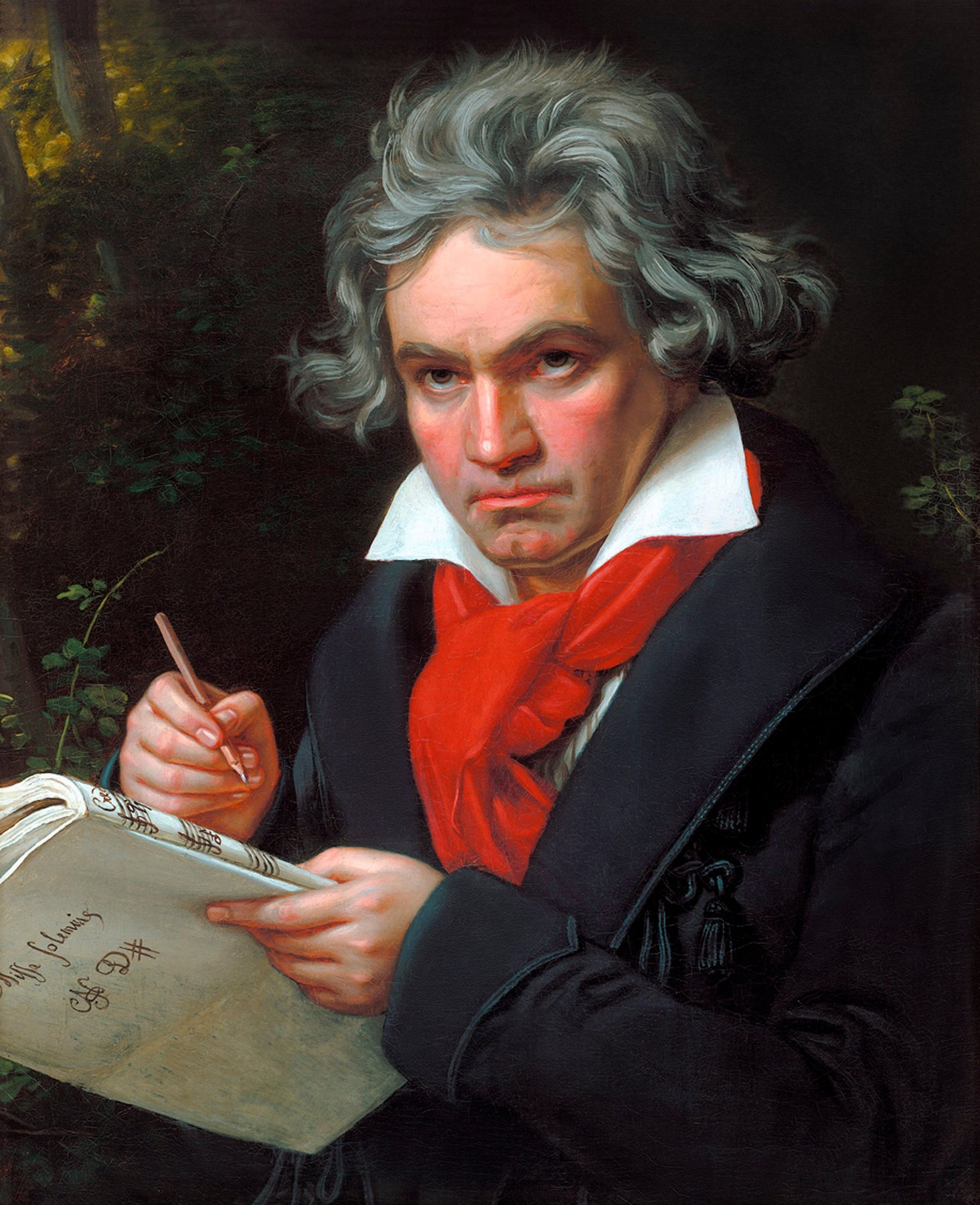 The German composer, Ludwig van Beethoven (1770-1827). Portrait by Joseph Karl Stieler, oil on canvas, 1820. Image digitally restored and retouched, Image: 294789079, License: Rights-managed, Restrictions: , Model Release: no, Credit line: Ian Dagnall / Alamy / Alamy / Profimedia