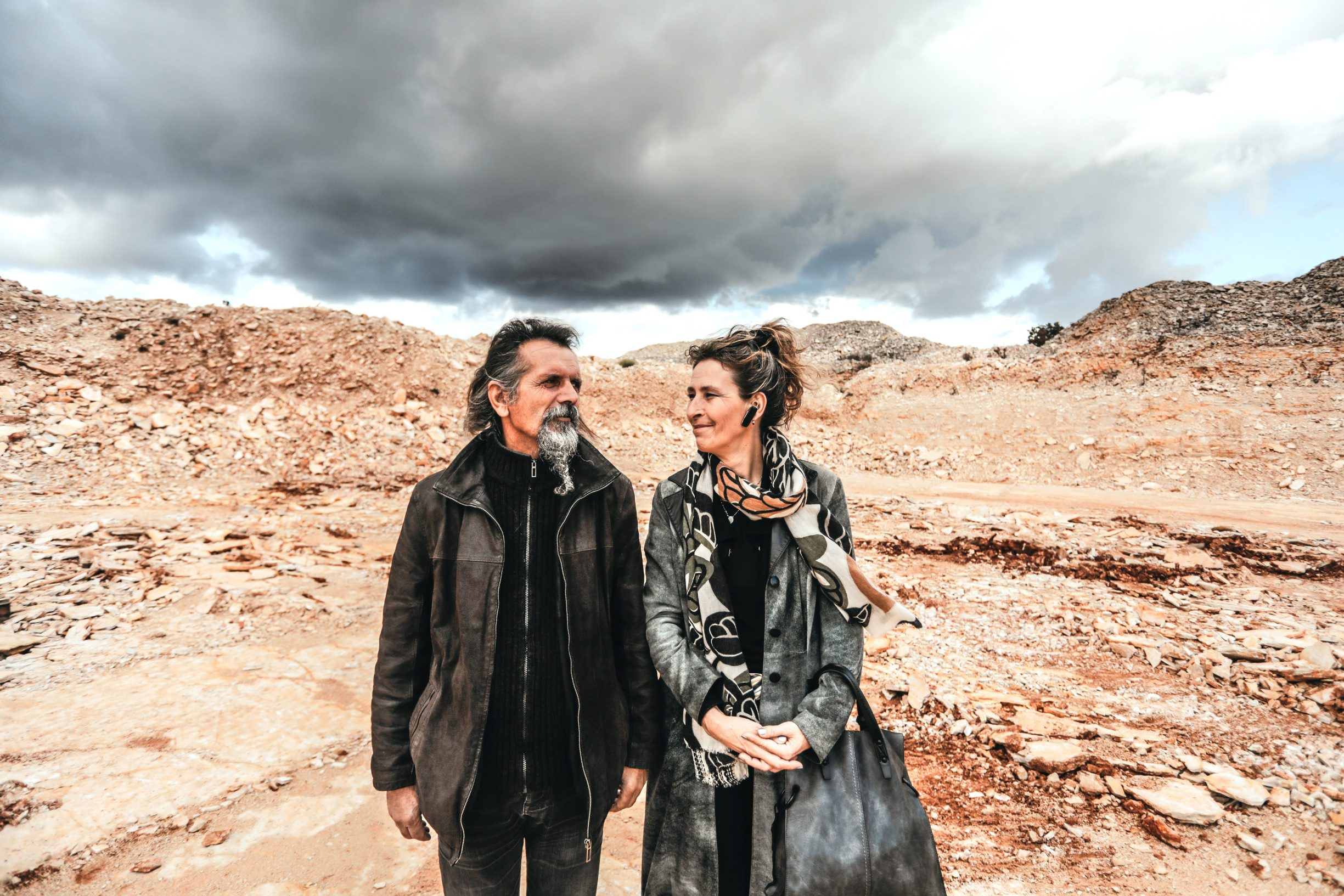 Benkovac, 031219 Reportaza o Benkovcu. Na fotografiji Omer Basic i Zdenka Perica,vlasnici tvrtke za vadjenje kamena ZIO Commerce iz Lisicica. Foto: Danijel Soldo / CROPIX
