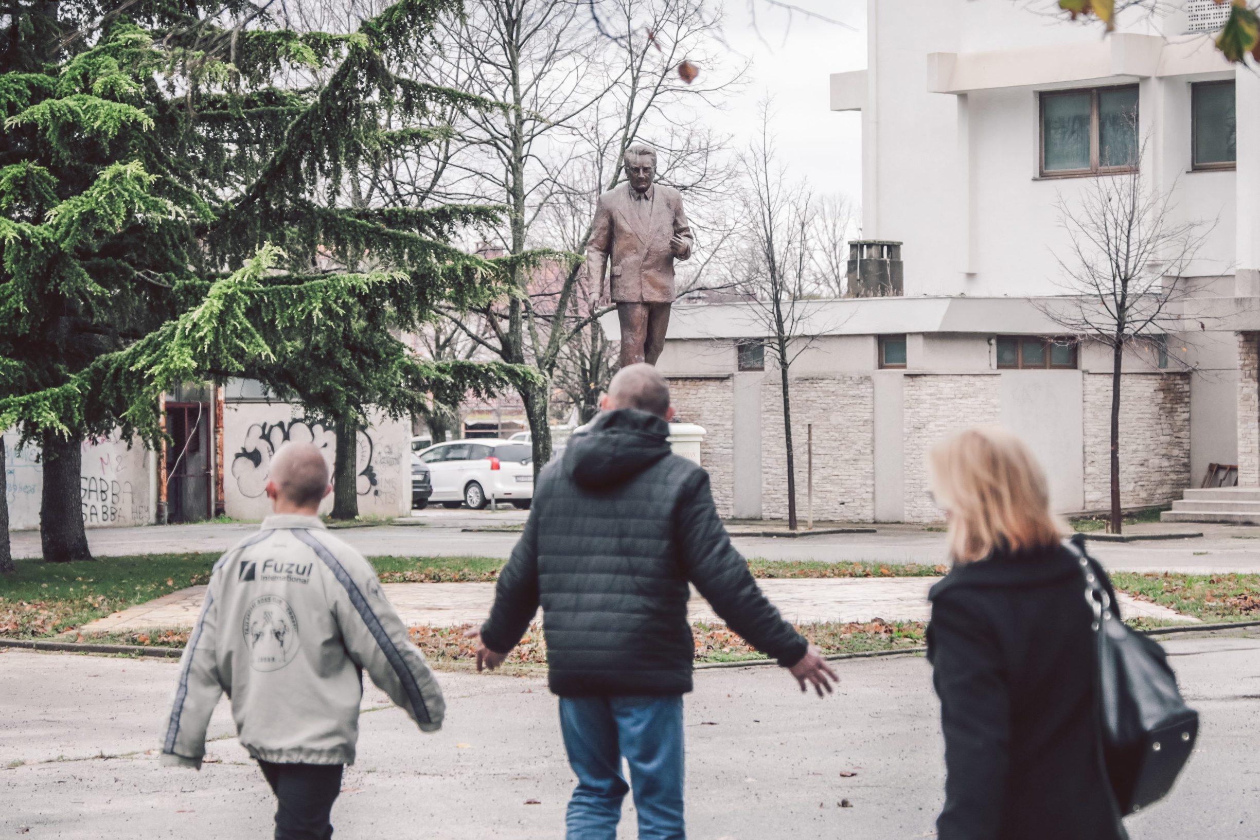 Benkovac, 031219 Reportaza o Benkovcu. Na fotografiji spomen obiljezje Franji Tudjmanu u Benkovcu. Foto: Danijel Soldo / CROPIX