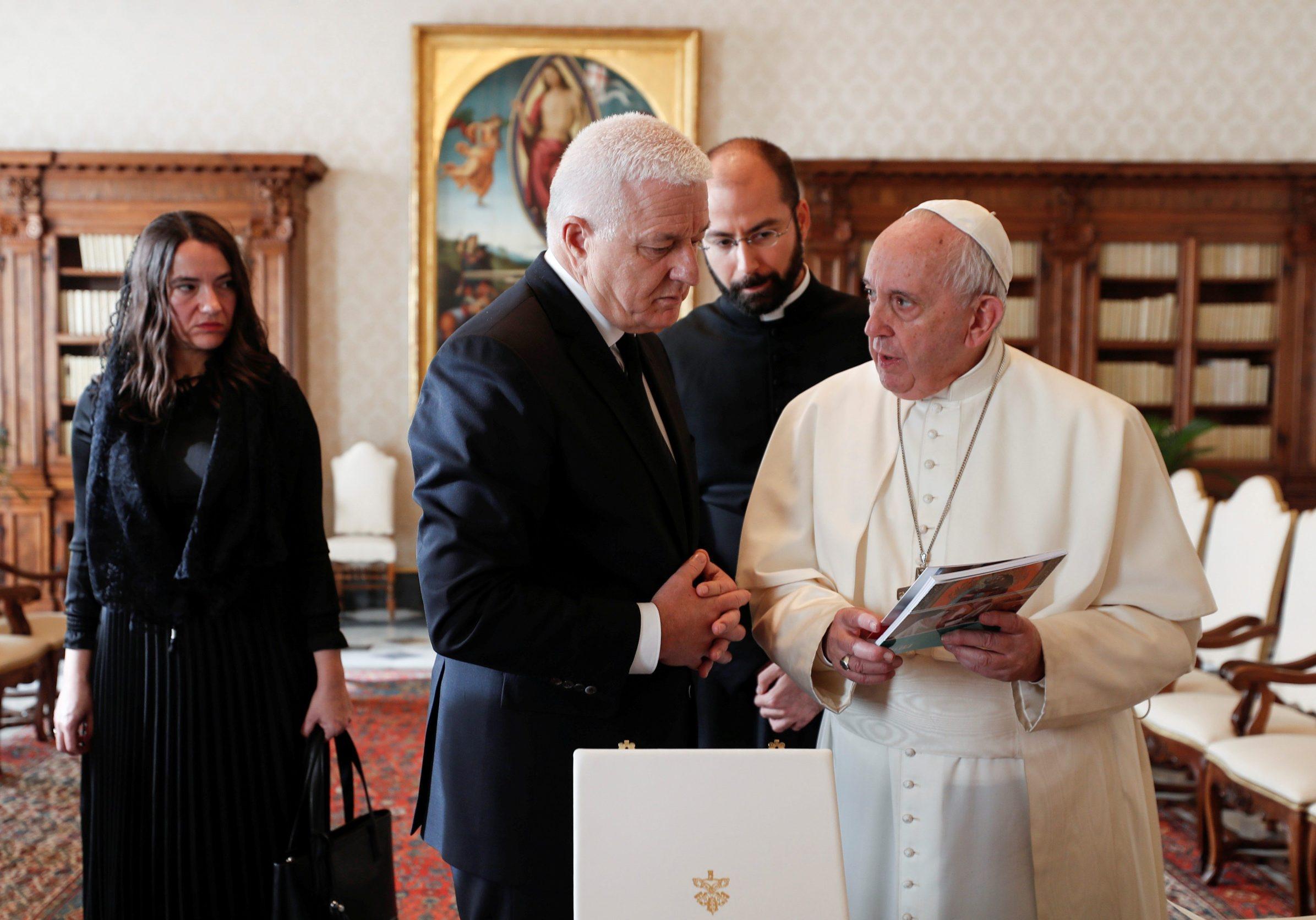 Duško Marković i papa Franjo