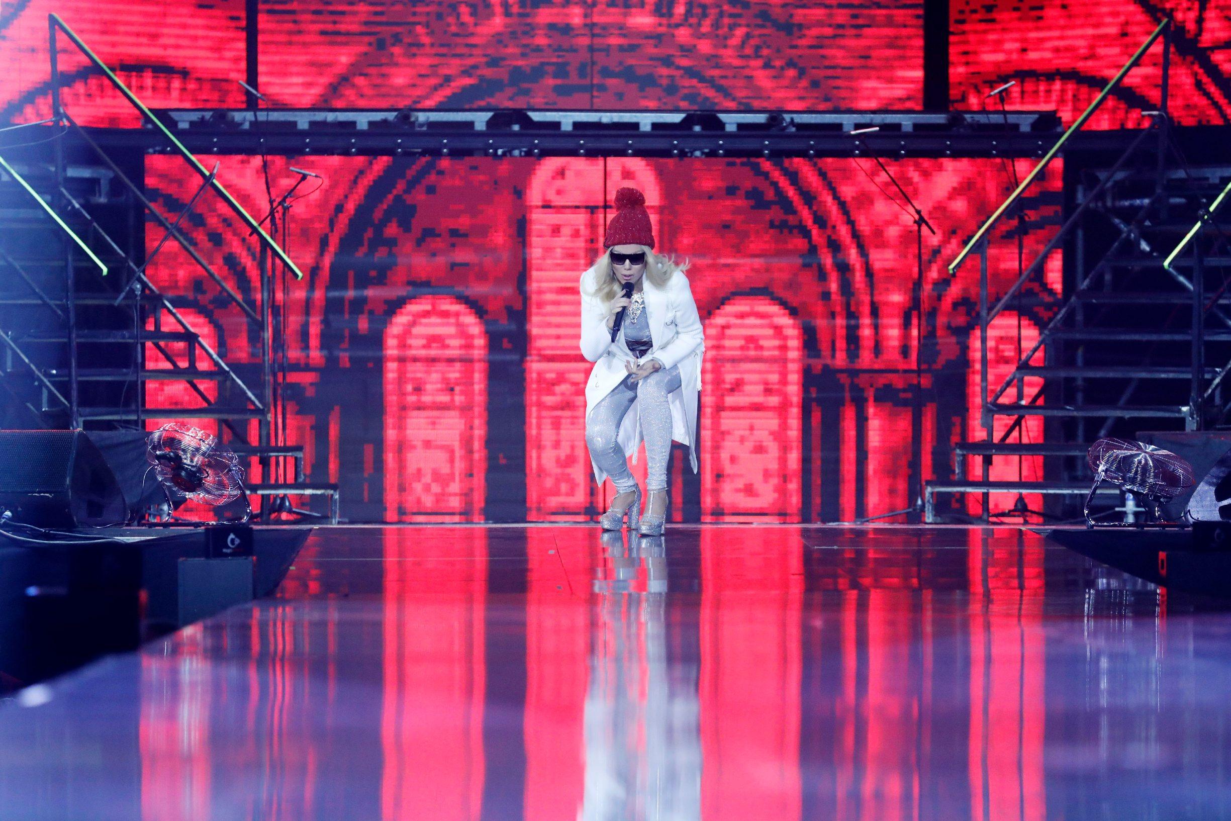 Zagreb, 141219. Koncert Lepe Breneu dvorani Arena Zagreb. Na fotografiji: Lepa Brena. Foto: Tomislav Kristo / CROPIX