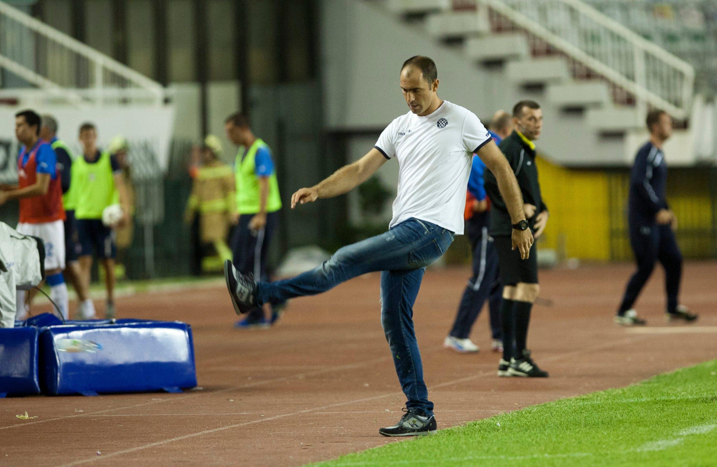 Igor Tudor za vrijeme prvog mandata na klupi Hajduka