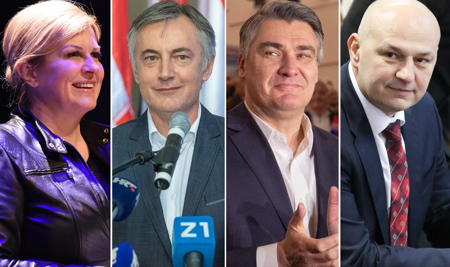 Kolinda Grabar Kitarović, Miroslav Škoro, Zoran Milanović, Mislav Kolakušić