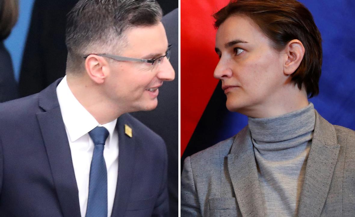 Marjan Šarec (lijevo) i Ana Brnabić (desno)