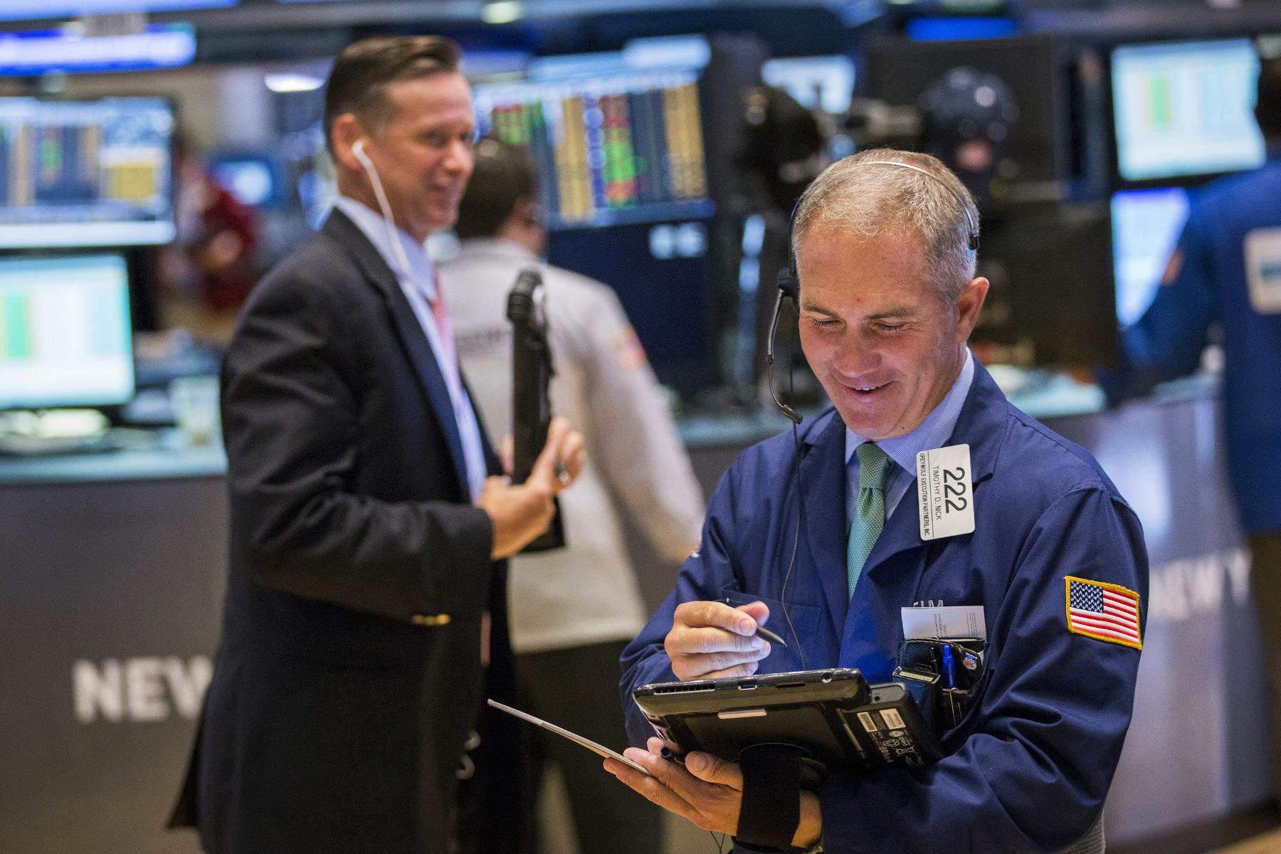 Ilustracija, Wall Street broker