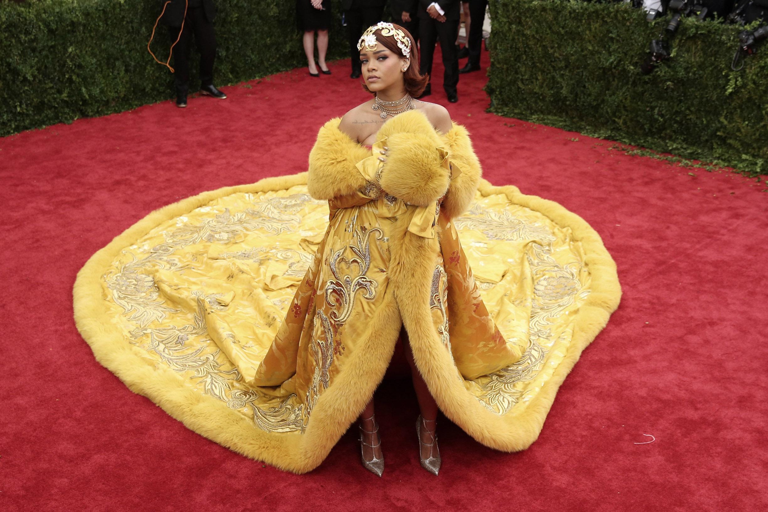 NEW YORK, NY - MAY 04:  Rihanna attends the