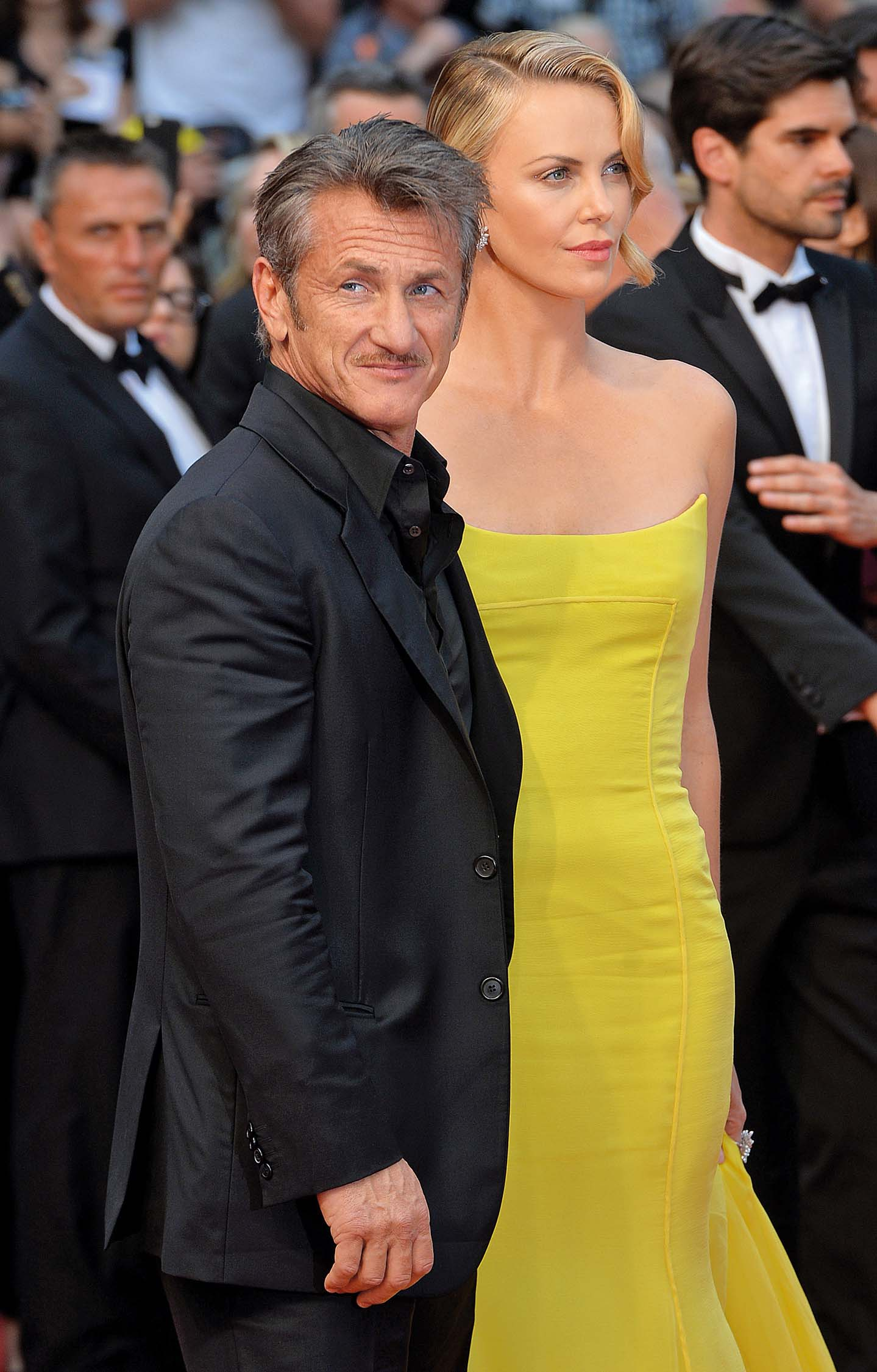 CANNES, FRANCE - MAY 14:  Charlize Theron and Sean Penn attend the