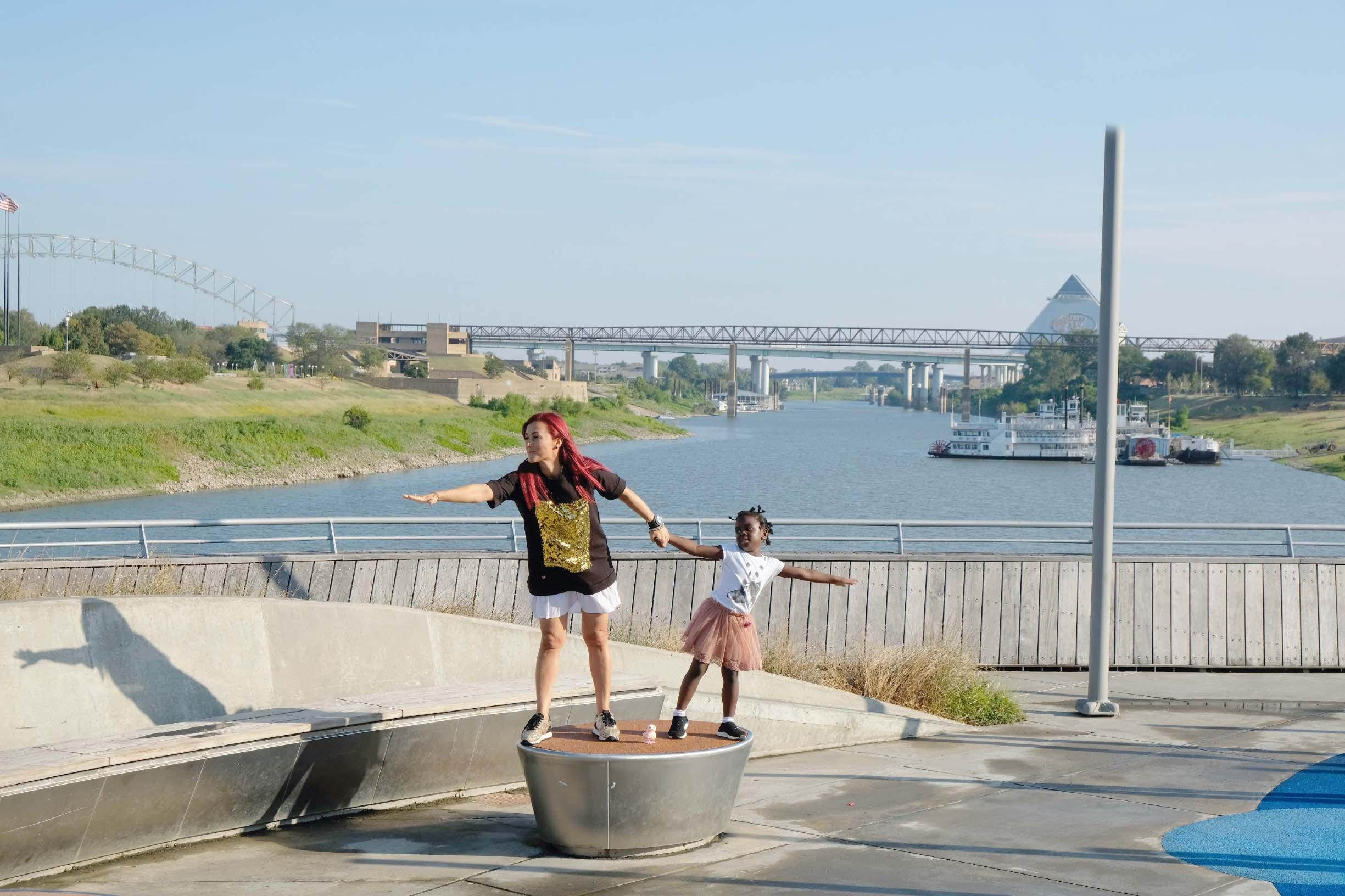 Pjevačicu i njezinu troipolgodišnju kćerkicu Salome oduševila je rijeka Mississippi, druga po dužini u Sjedinjenim Državama