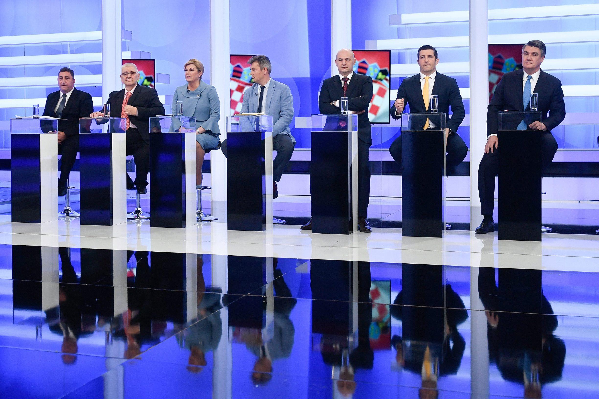 11 candidates; Nedjeljko Babić, Anto Đapić, Kolinda Grabar-Kitarović, Dario Juričan 'Milan Bandić', Mislav Kolakušić, Dejan Kovač and Zoran Milanović