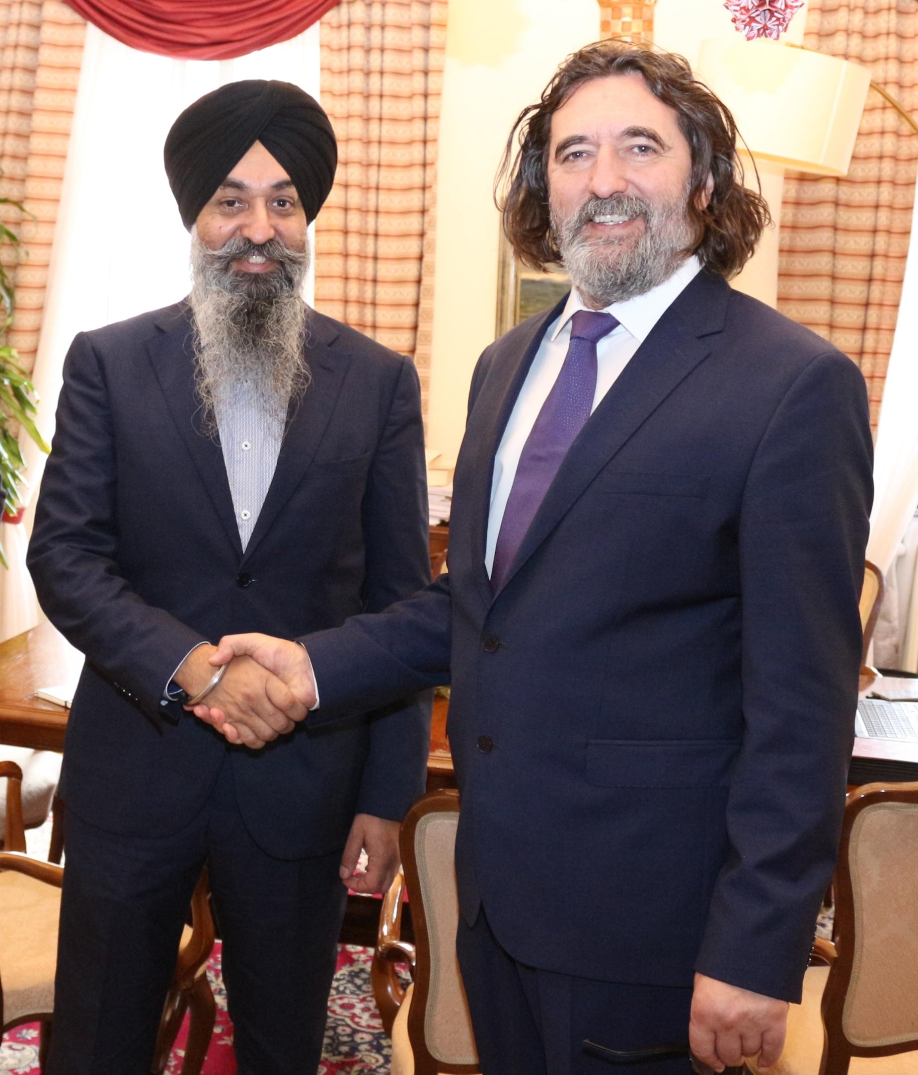 Ivan Čehok, gradonačelnik Grada Varaždina, Raaj Singh, direktor međunarodne korporacije Snathe