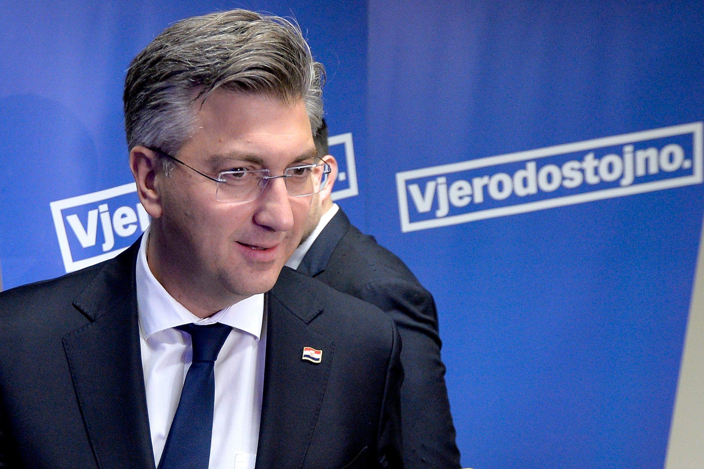 Zagreb, 021219.  HDZ. Sastanak predsjednistva HDZ-a. Na fotografiji: Andrej Plenkovic. Foto: Damir Krajac / CROPIX