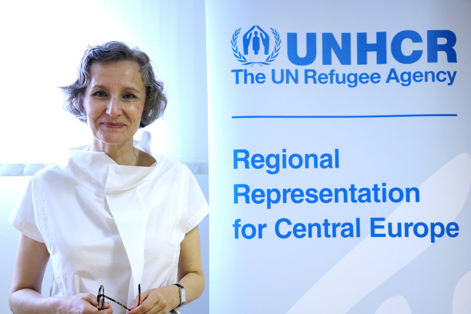 Montserrat Feixas Vihé, UNHCR's Regional Representative based in Budapest since July 2013. She is responsible for the overall formulation, coordination and management of UNHCR's operations in Bulgaria, Croatia, the Czech Republic, Hungary, Moldova, Poland, Romania, Slovakia and Slovenia, and she leads the policy dialogue and advocacy on refugee issues and statelessness with these Governments.