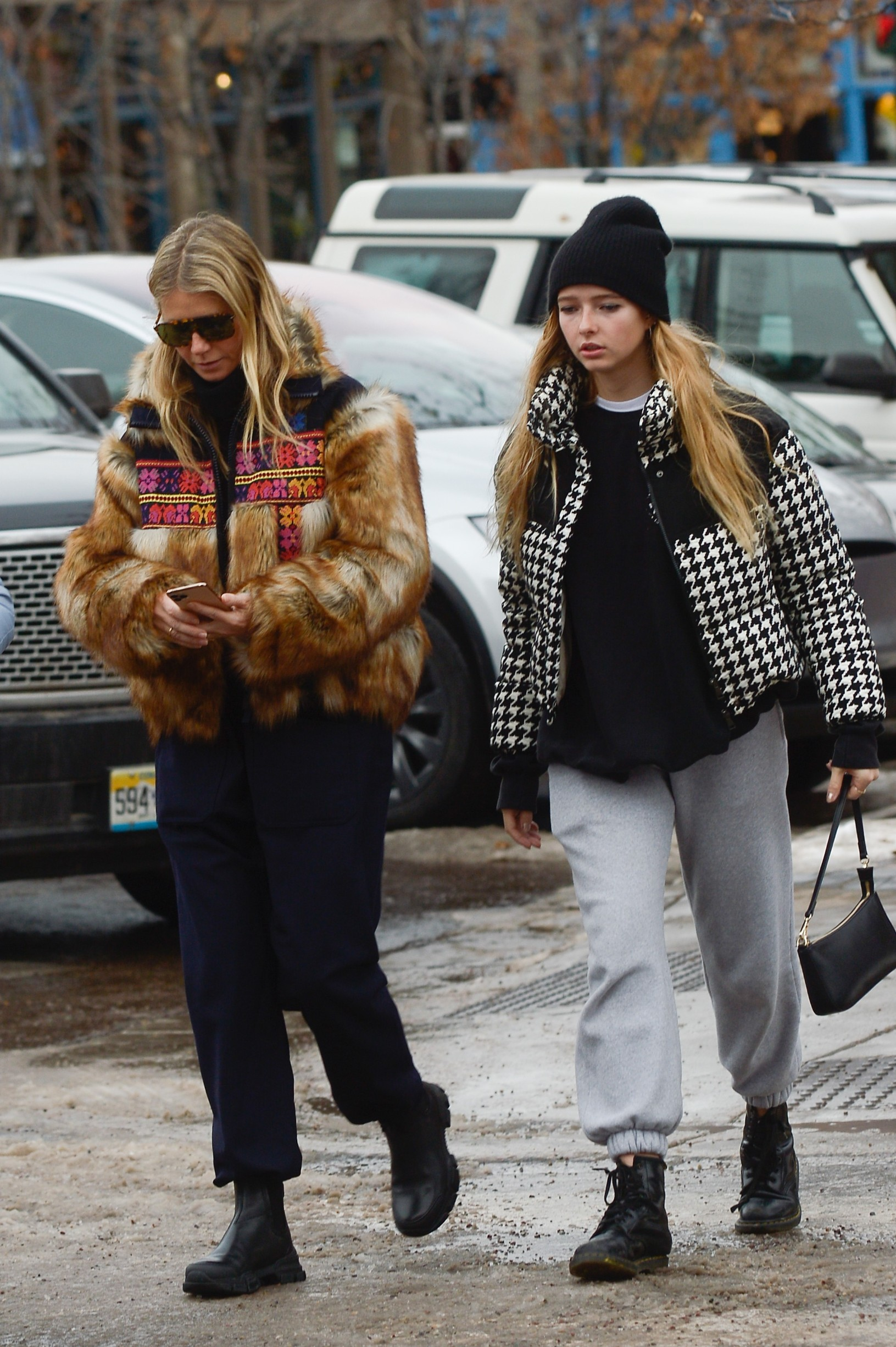 12/22/2019 Gwyneth Paltrow, Apple Martin, and Brad Falchuk head out for some shopping in Aspen, Colorado. The 47 year old actress wore a patterned fur coat, black trousers, and black boots., Image: 489468554, License: Rights-managed, Restrictions: NO usage without agreed price and terms. Please contact sales@theimagedirect.com, Model Release: no, Credit line: TheImageDirect.com / The Image Direct / Profimedia