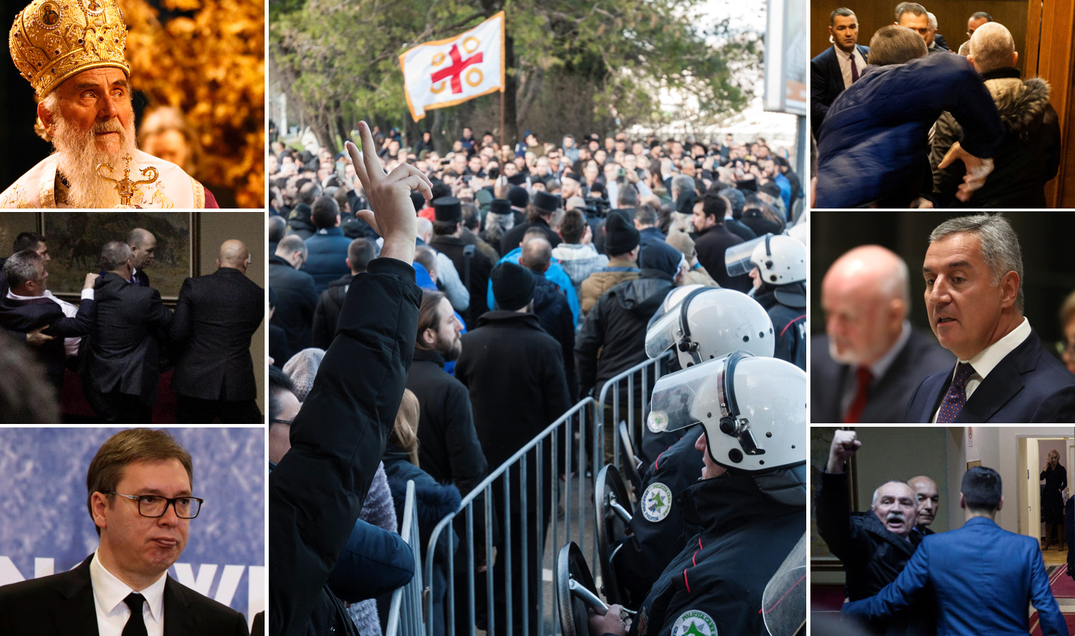 Patrijarh Irinej, Aleksandar Vučić, Milo Đukanović i prosvjedi u Crnoj Gori