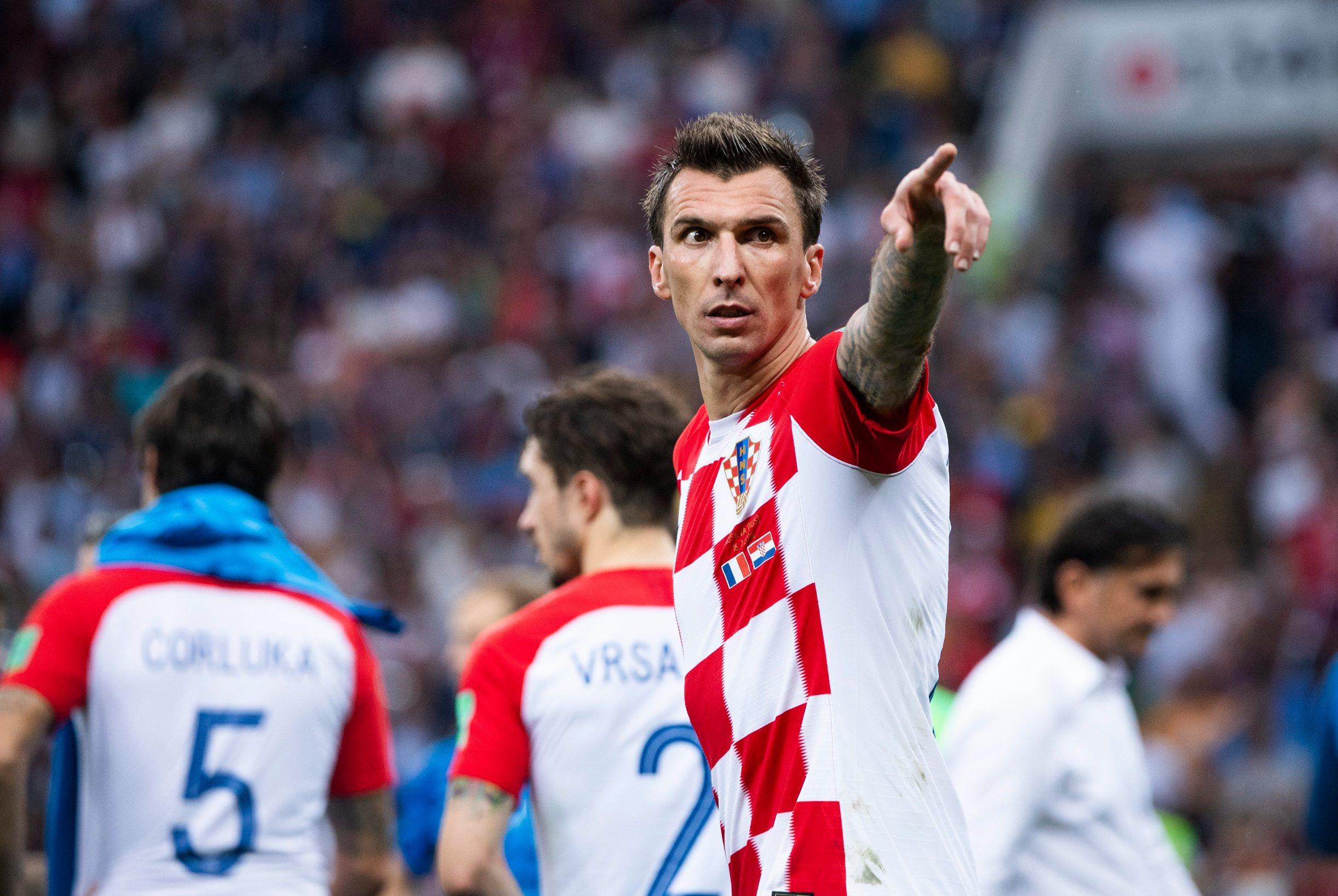 Mario Mandžukić u finalu Svjetskog nogometnog prvenstva u Rusiji protiv Francuske