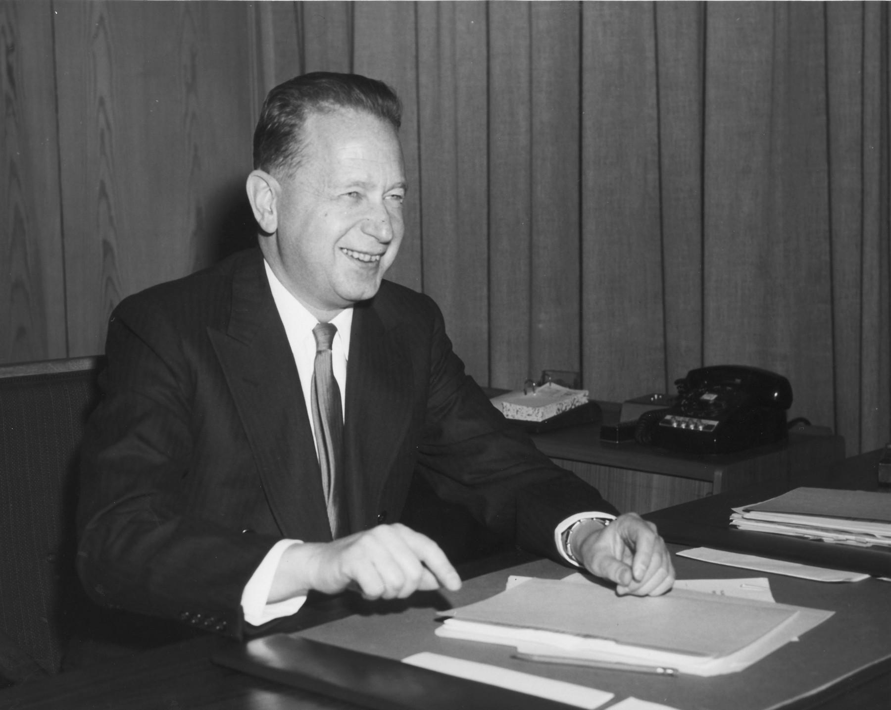 Dag Hammarskjöld snimljen 1958.