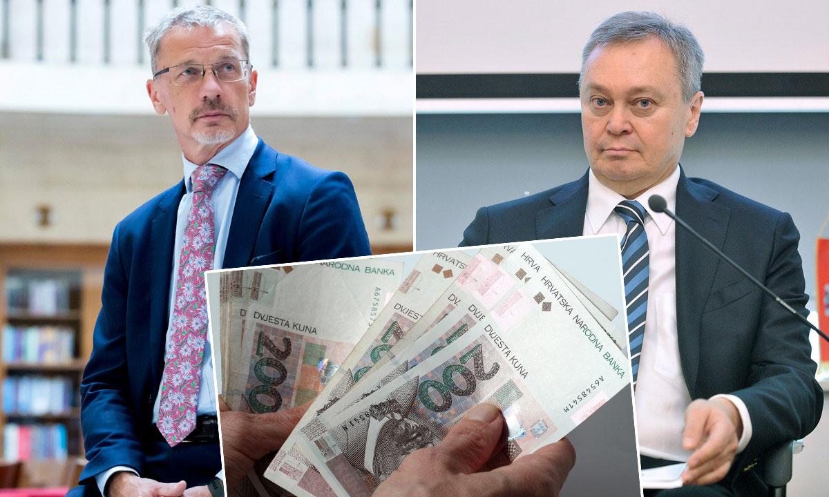 guverner HNB-a Boris Vujčić (lijevo), čelnik Hrvatske udruge banaka Zdenko Adrović (desno)