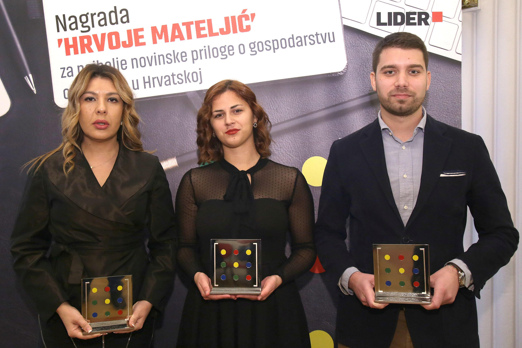 Novinari Marina Šunjerga, Kristian Došen i Lucija Špiljak