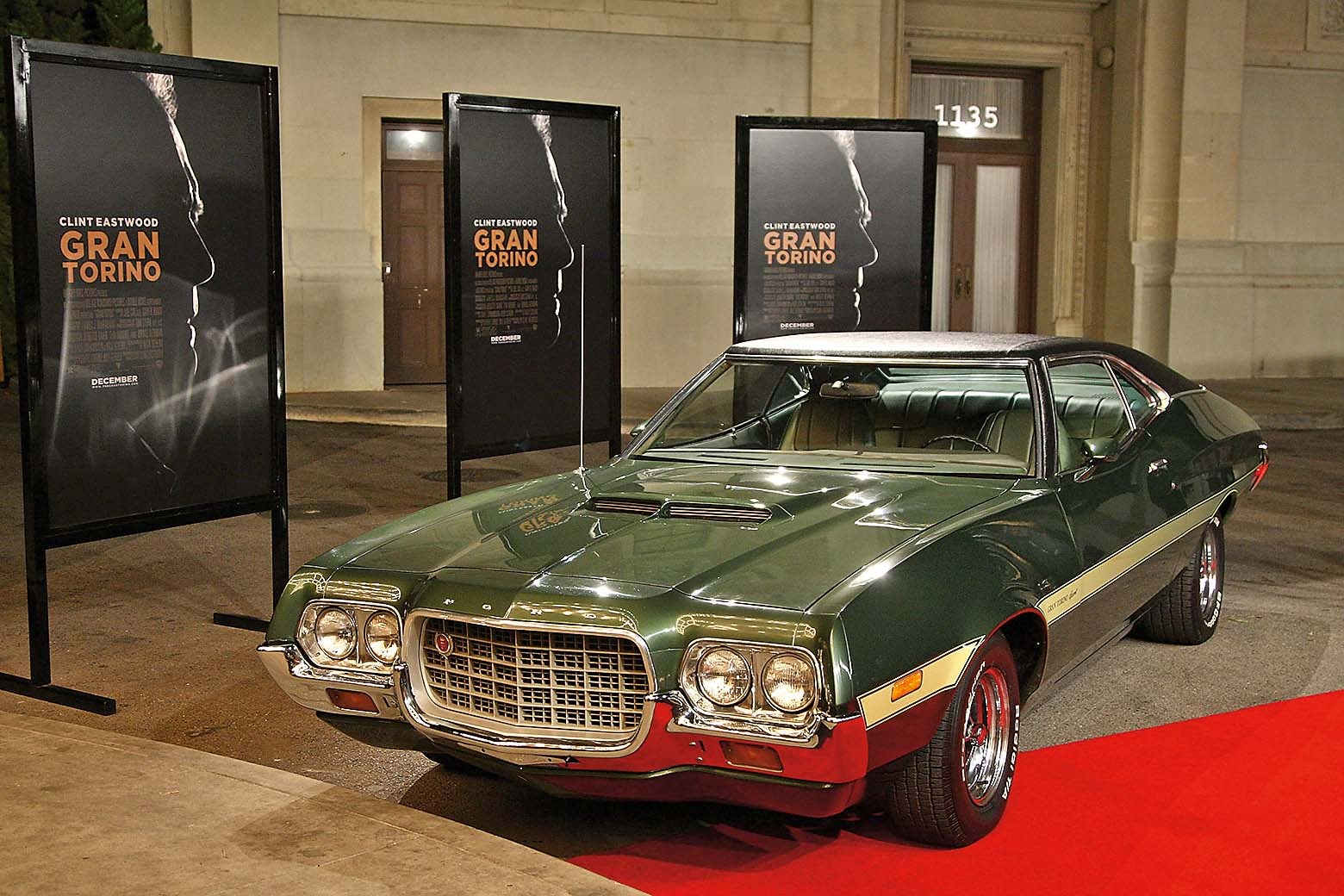 BURBANK, CA - DECEMBER 09:  The film's 1972 Ford Gran Torino Sport  at the world premiere of Warner Bros. Pictures'