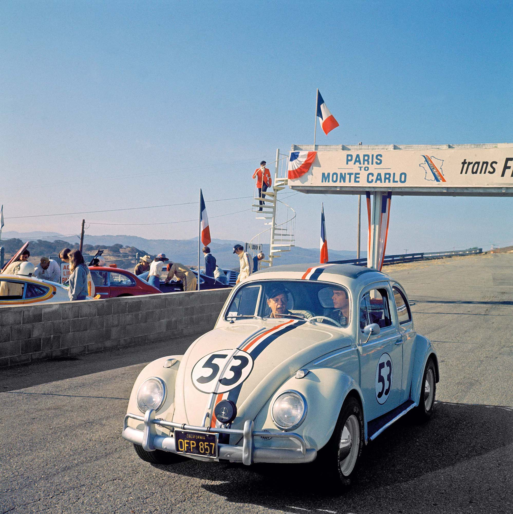 HERBIE GOES TO MONTE CARLO, Don Knotts, Dean Jones, 1977.