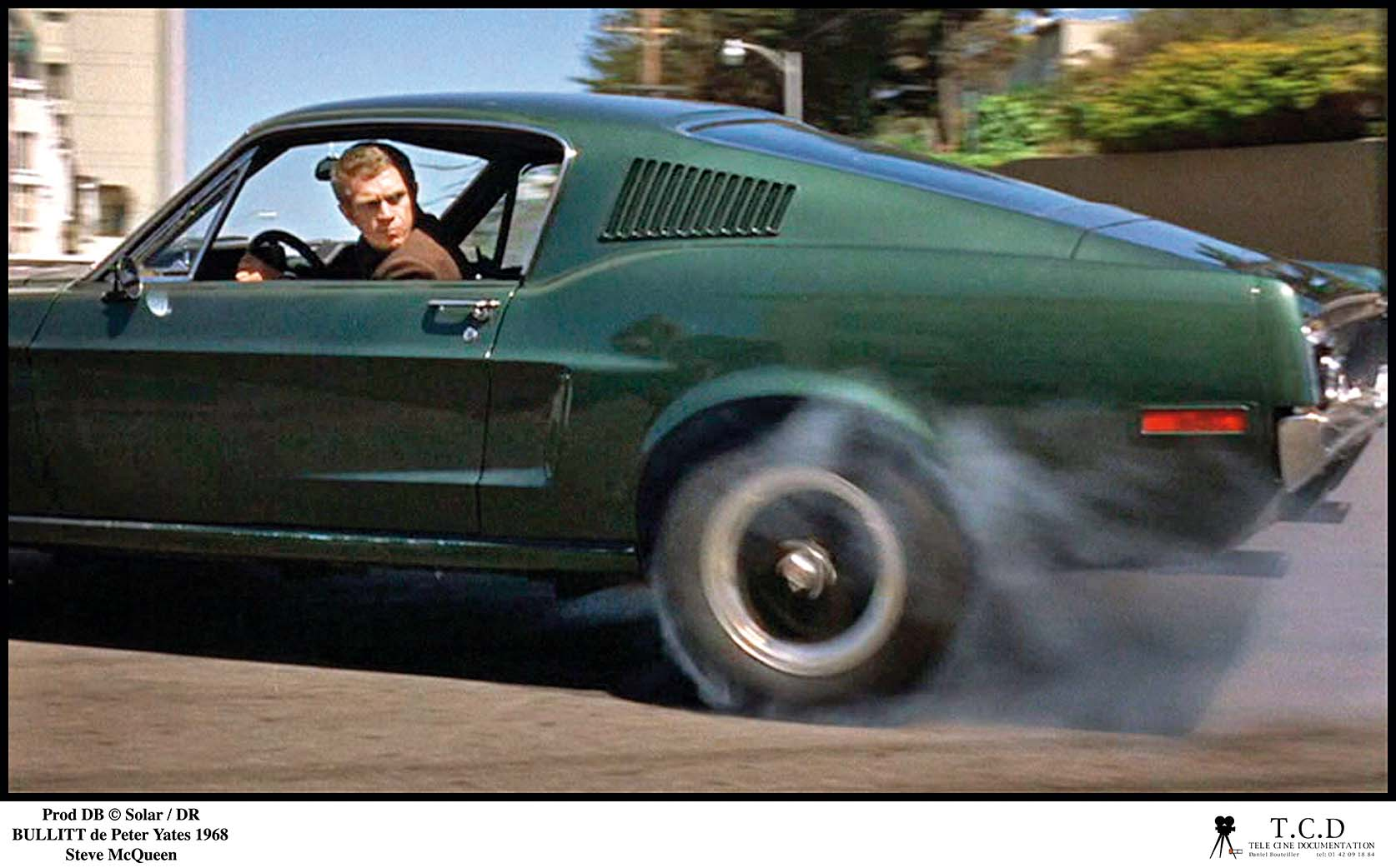 Prod DB © Solar / DR BULLITT (BULLITT) de Peter Yates 1968 USA avec Steve McQueen ford mustang de 1968, derapage controle, fumee, freiner d'apres le roman de Robert L. Pike, Image: 173074275, License: Rights-managed, Restrictions: NO RESTRICTION, Model Release: no, Credit line: T.C.D / Visual movies / Profimedia