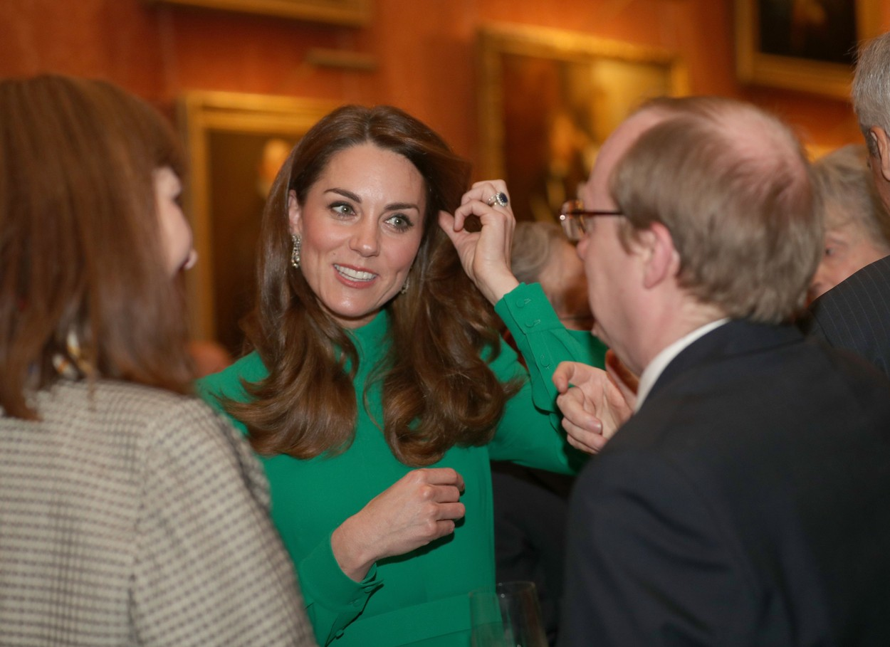 Catherine Duchess of Cambridge during the reception in Buckingham Palace, as Nato leaders gather to mark 70 years of the alliance. NATO 70th Anniversary Summit, UK - 03 Dec 2019, Image: 486208978, License: Rights-managed, Restrictions: , Model Release: no, Credit line: REX / Shutterstock Editorial / Profimedia