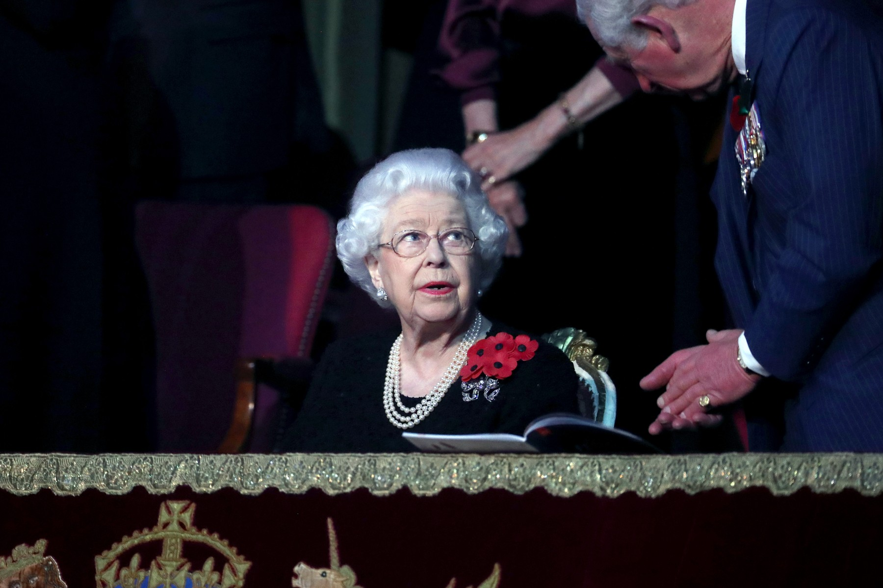 9 November 2019.  Members of the Royal Family attend the Royal British Legion Festival of Remembrance at the Royal Albert Hall, London, UK, on the 9th November 2019.  Here, Queen Elizabeth, Prince Charles, Prince of Wales, Image: 482009286, License: Rights-managed, Restrictions: **No UK Sales**, Model Release: no, Credit line: JWRota/GoffPhotos / Goff Photos / Profimedia