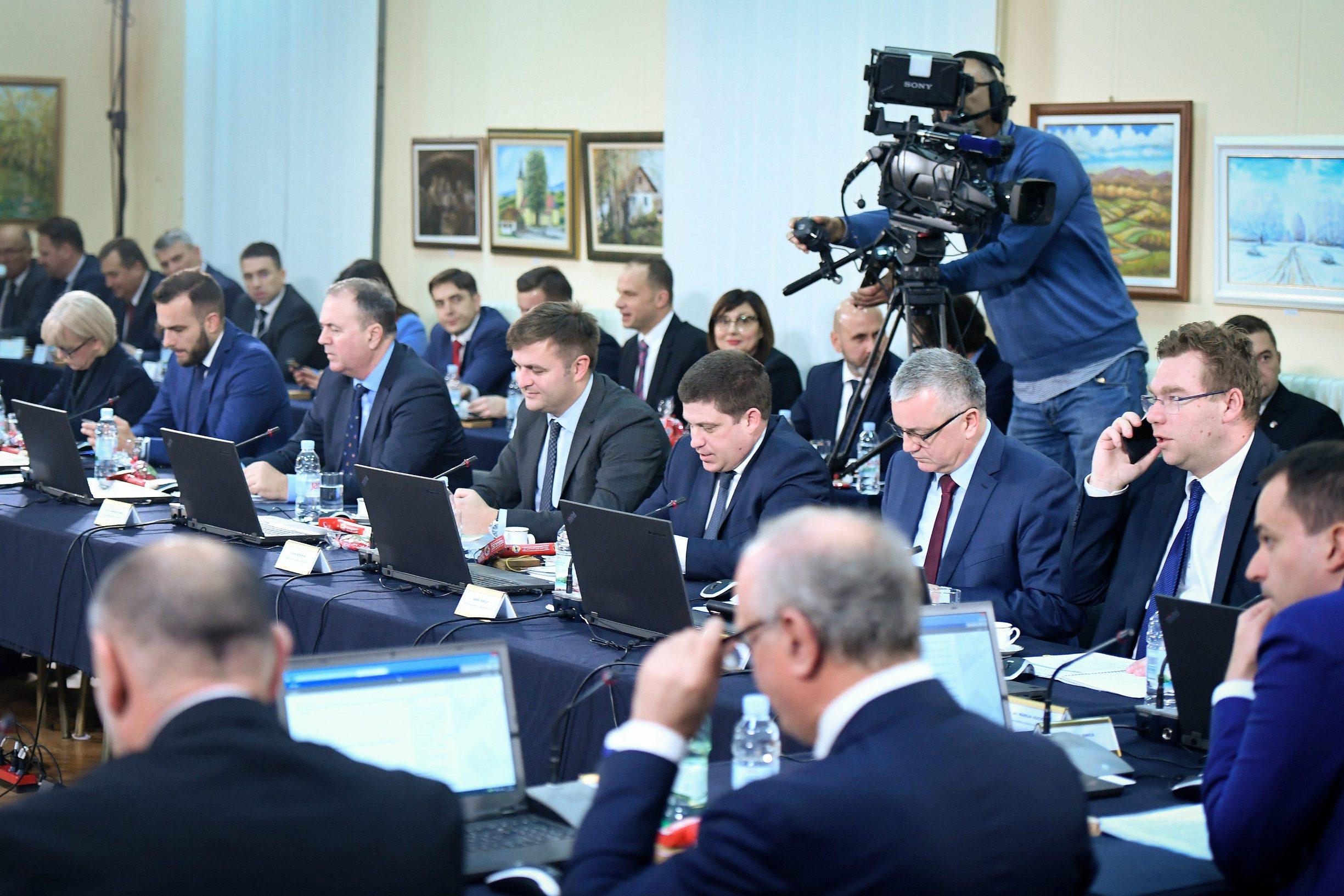 Krapina, 061219.  Otvoreno uciliste. Redovita sjednica Vlade. Na fotografiji: Foto: Goran Mehkek / CROPIX