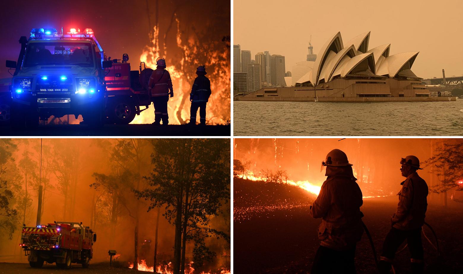 Prizori iz Australije gdje nadomak Sydneyja hara požar