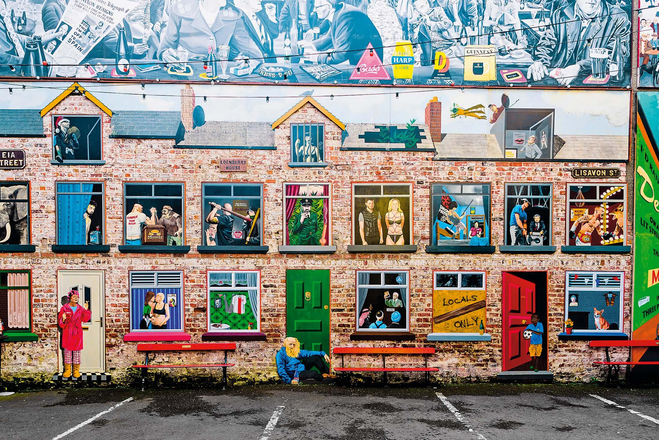 Zidovi u Belfastu često su ukrašeni muralima
