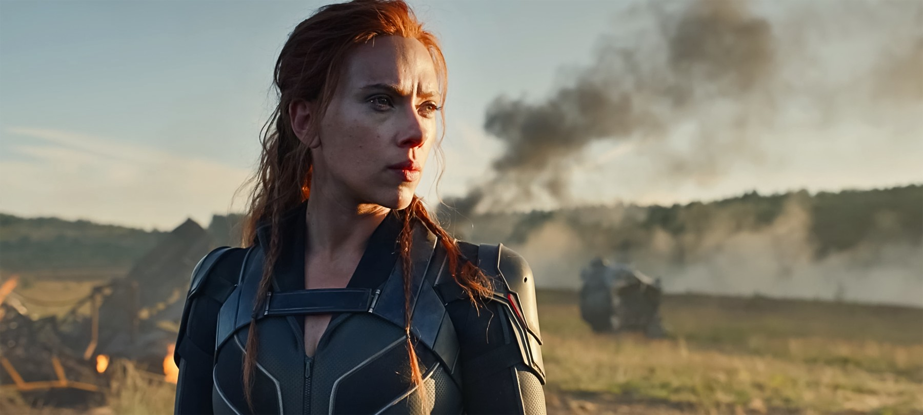USA. Scarlett Johansson in a scene from the ©Walt Disney Studios new movie: Black Widow (2020) . Plot:  A film about Natasha Romanoff in her quests between the films Civil War and Infinity War., Image: 486704030, License: Rights-managed, Restrictions: Supplied by Landmark Media. Editorial Only. Landmark Media is not the copyright owner of these Film or TV stills but provides a service only for recognised Media outlets., Model Release: no, Credit line: Supplied by LMK / Landmark / Profimedia