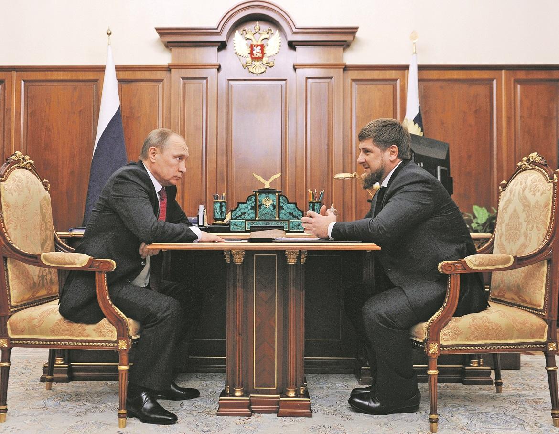 ruski predsjednik Vladimir Putin i čečenski predsjednik Ramzan Kadirov