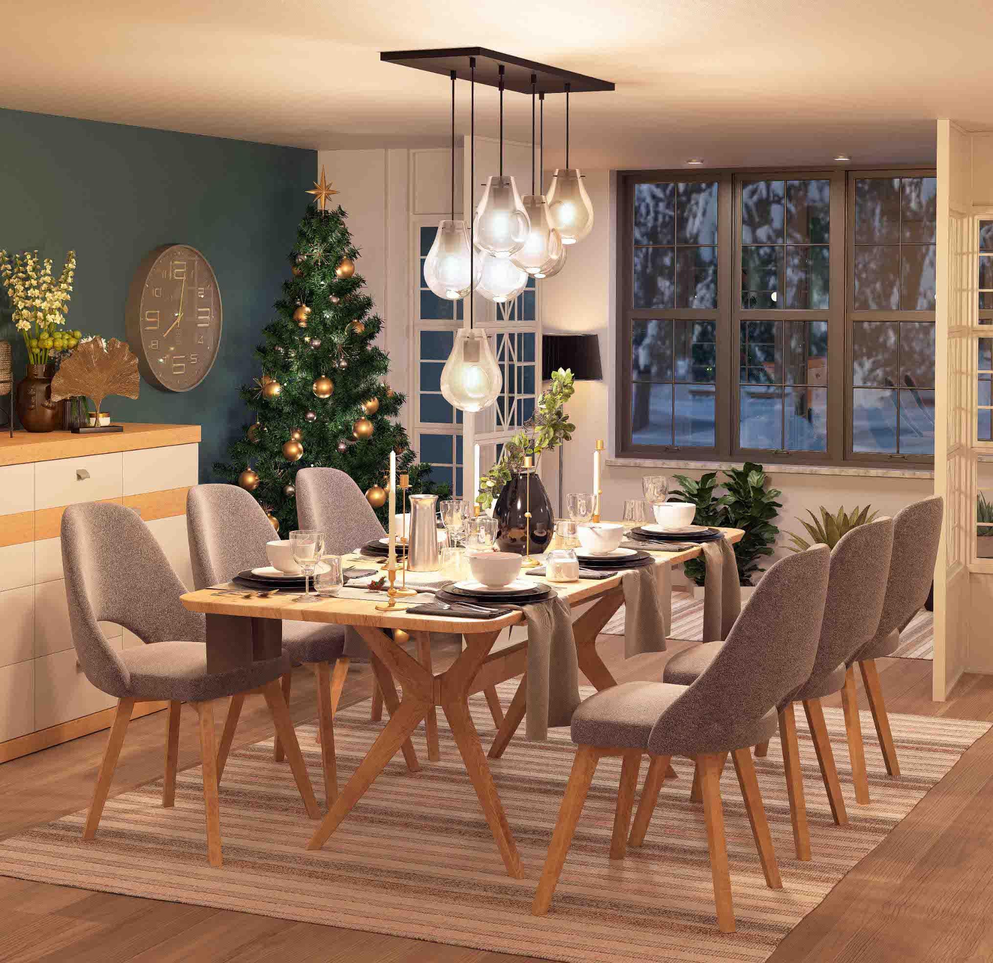 Stol Davos i stolice Babilon uz COCO maison dekoracije_2
