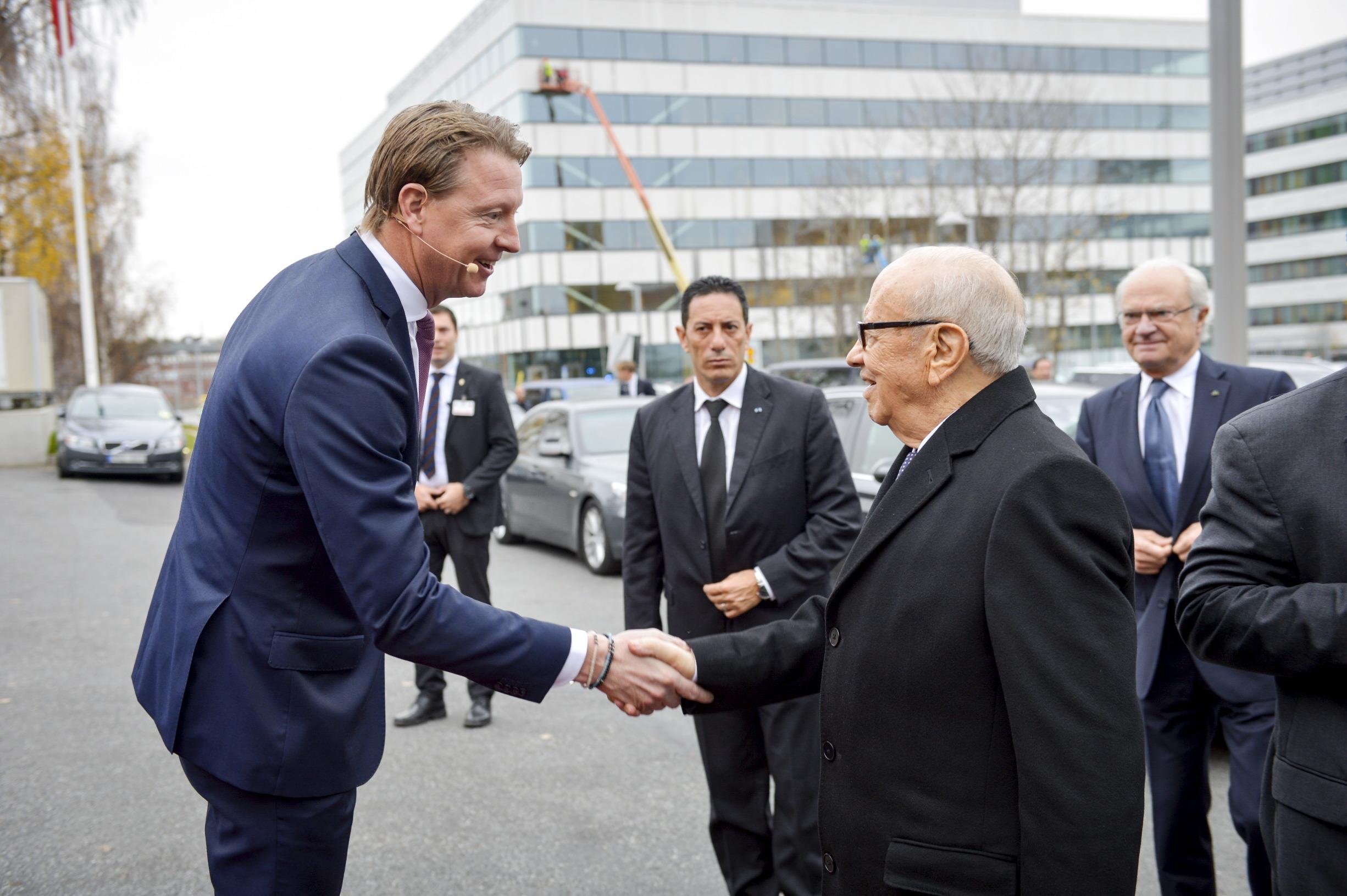 Ilustracija (arhivska fotografija iz 2015.) Tuniski predsjednik Beji Caid Essebsi u posjeti predsjedniku Uprave Ericssona