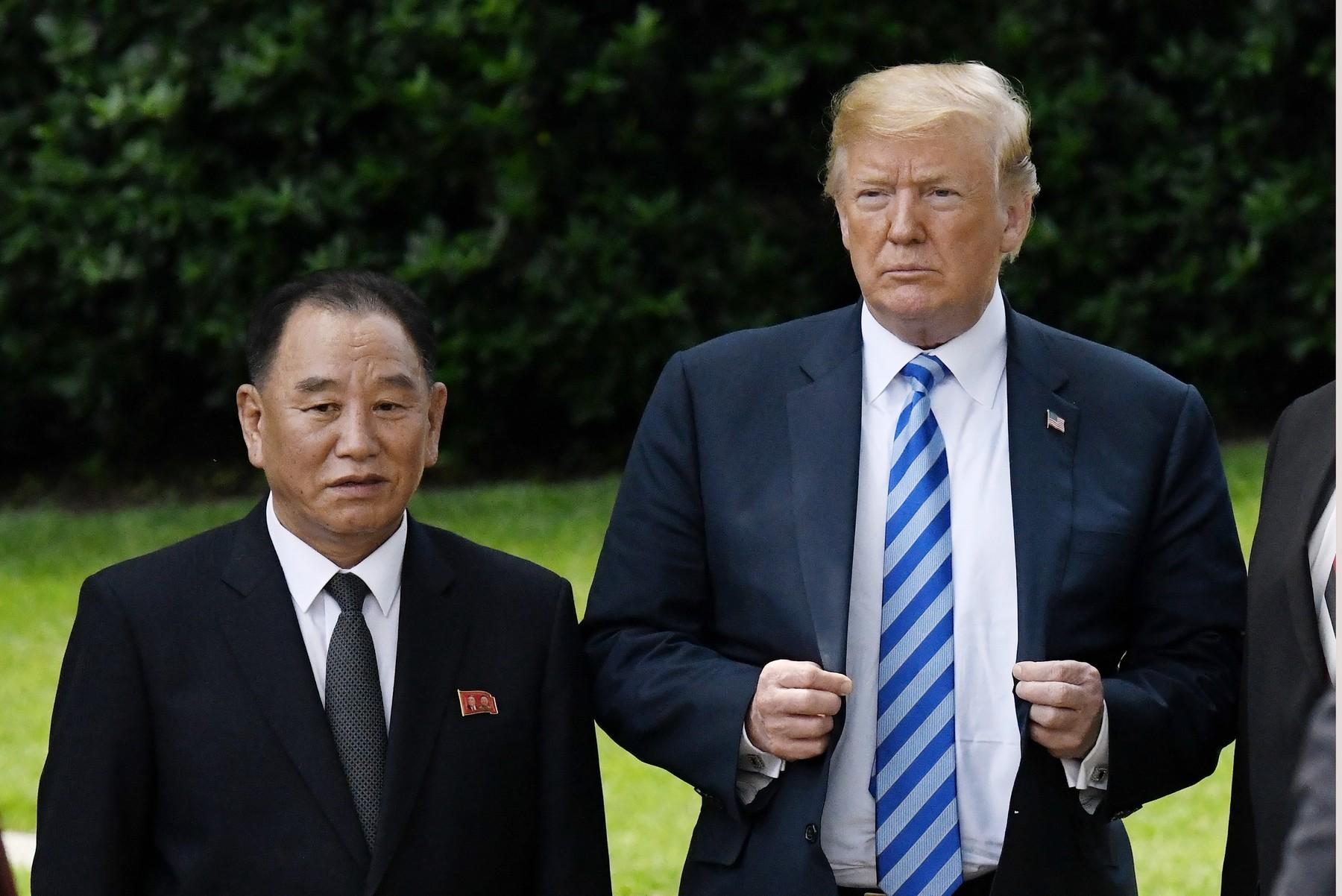 Kim Yong Chol i Donald Trump u lipnju 2018.