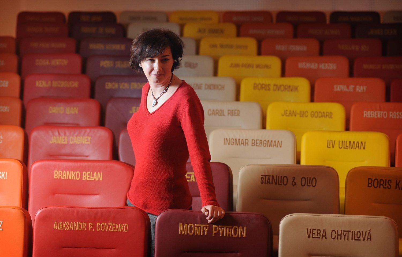 Split, 100315. Tamara Viskovic, ravnateljica kinoteke Zlatna vrata u Splitu. Foto: Paun Paunovic / CROPIX