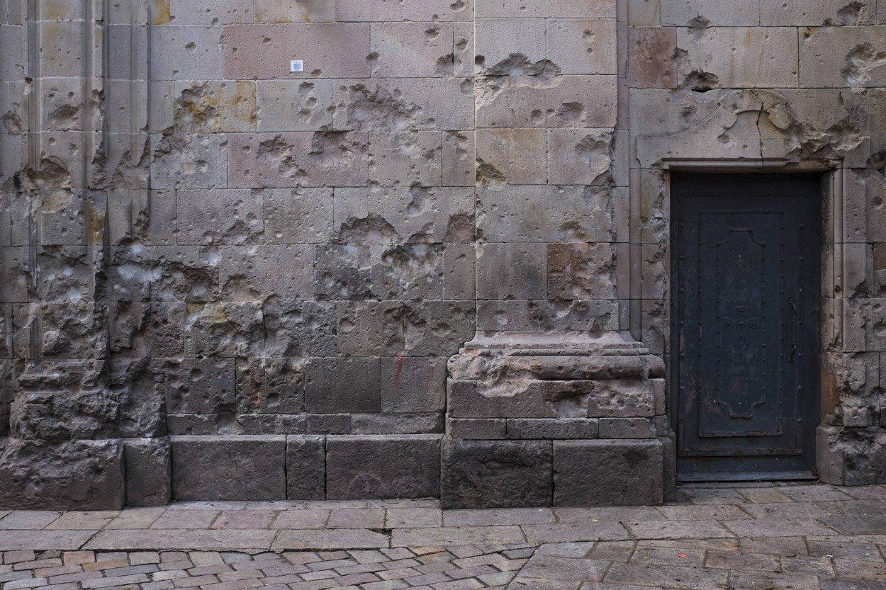 Tragovi ratnih šrapnela u Barceloni