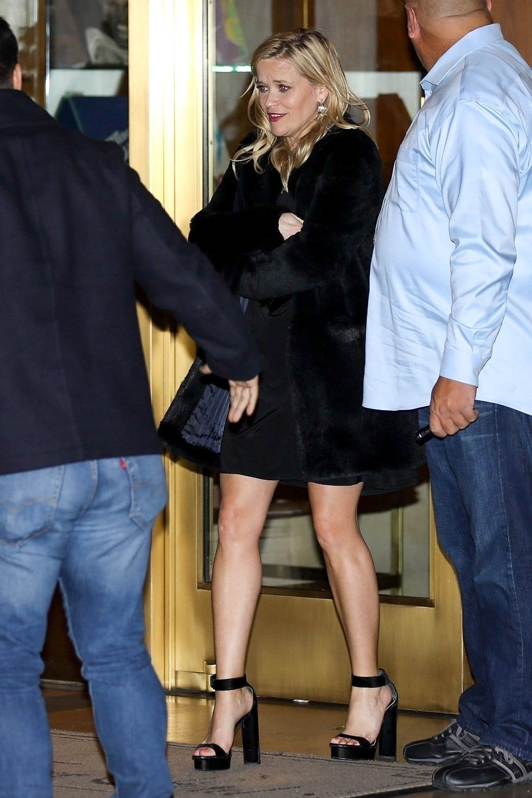 Hollywood, CA  - Birthday Girl, Jennifer Aniston and Reese Witherspoon leaveher 50th birthday party at the Sunset Tower Hotel in Hollywood. Shot on 02/09/19.  Pictured: Reese Witherspoon    *UK Clients - Pictures Containing Children Please Pixelate Face Prior To Publication*, Image: 413029674, License: Rights-managed, Restrictions: , Model Release: no, Credit line: Profimedia, Backgrid USA