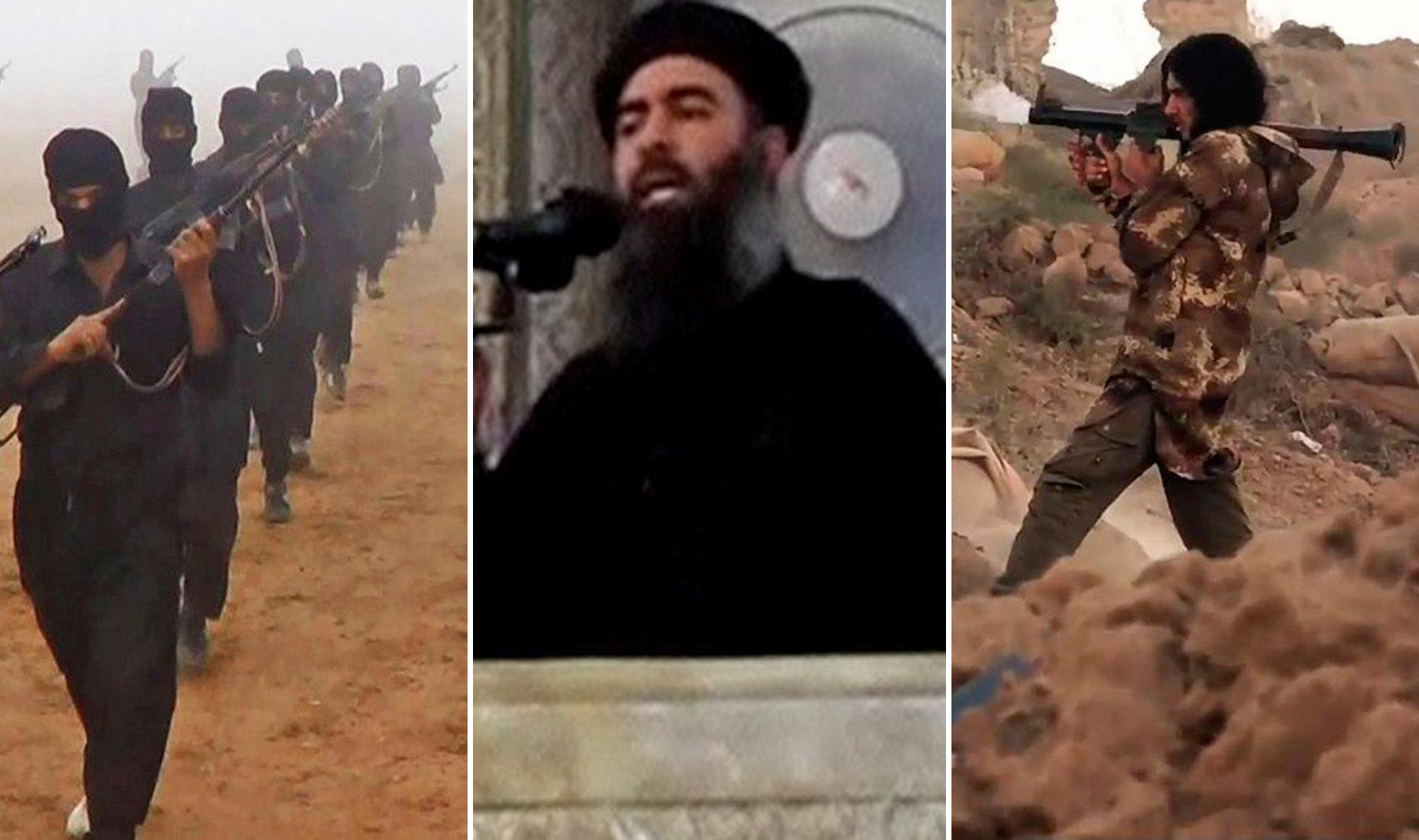 Džihadisti Islamske države i Abu Bakr al-Baghdadi u sredini