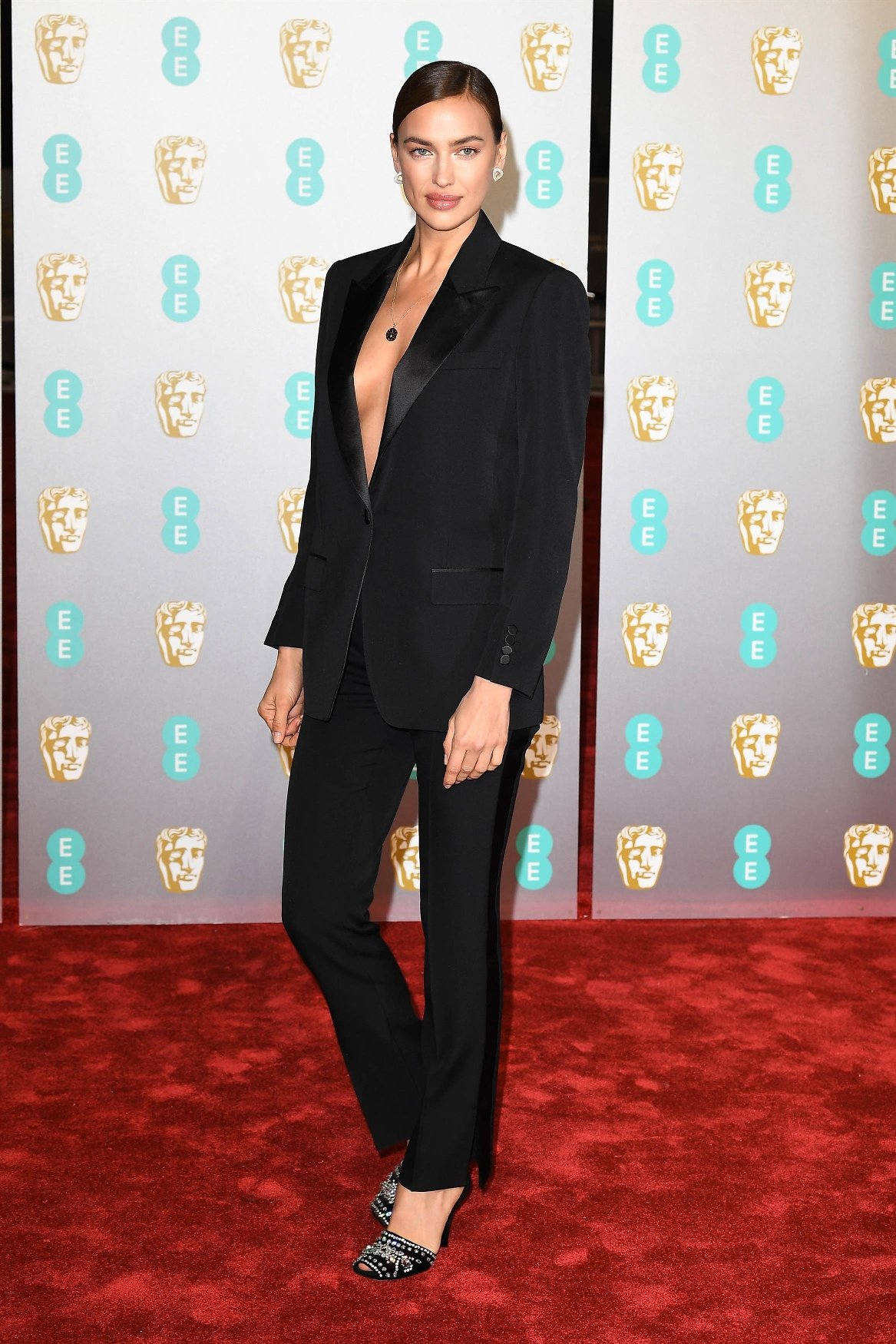 London, UNITED KINGDOM  - Irina Shayk at the EE British Academy Film Awards at The Royal Albert Hall in London. FEBRUARY 10th 2019., Image: 413118228, License: Rights-managed, Restrictions: , Model Release: no, Credit line: Profimedia, Backgrid USA