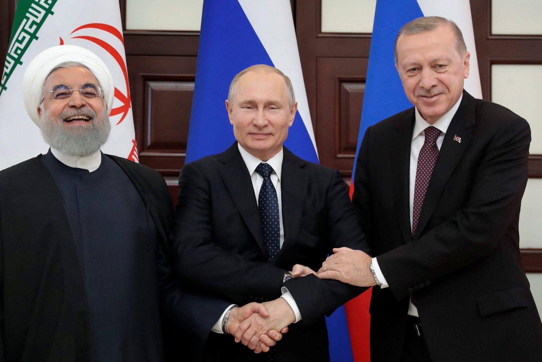Hassan Rouhani, Vladimir Putin i Recep Tayyip Erdogan