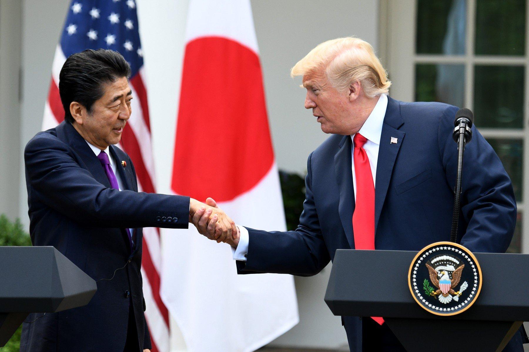 Shinzo Abe i Donald Trump