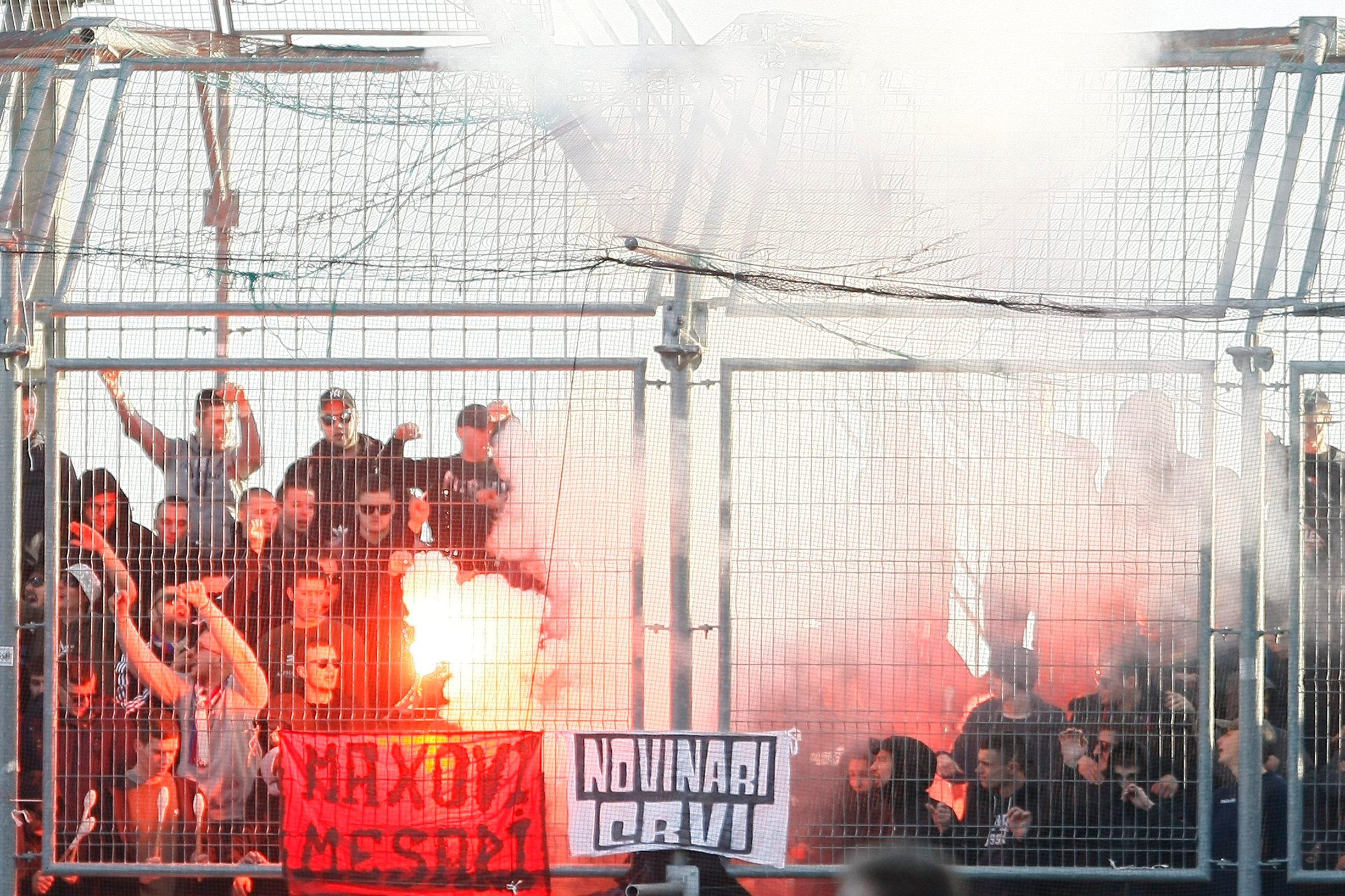Navijači Hajduka na riječkom stadionu Rujevica