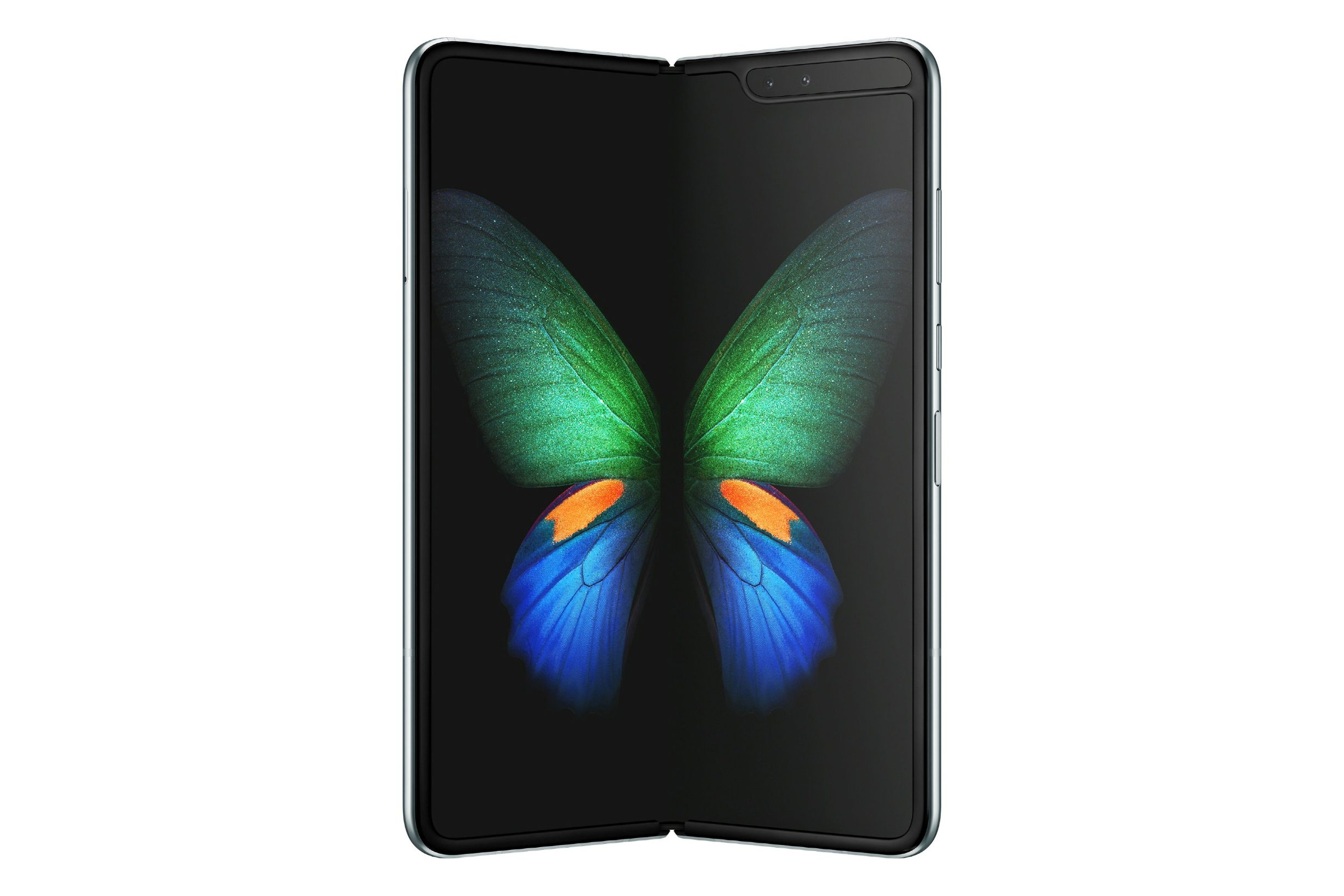 Samsung's new Galaxy Fold smart phone which features the world's first 7.3-inch Infinity Flex Display that works with the next-generation 5G networks is seen in this image released in San Francisco, California, U.S. February 20, 2019.   Courtesy Samsung/Handout via REUTERS  ATTENTION EDITORS - THIS IMAGE HAS BEEN SUPPLIED BY A THIRD PARTY. NO RESALES. NO ARCHIVES.