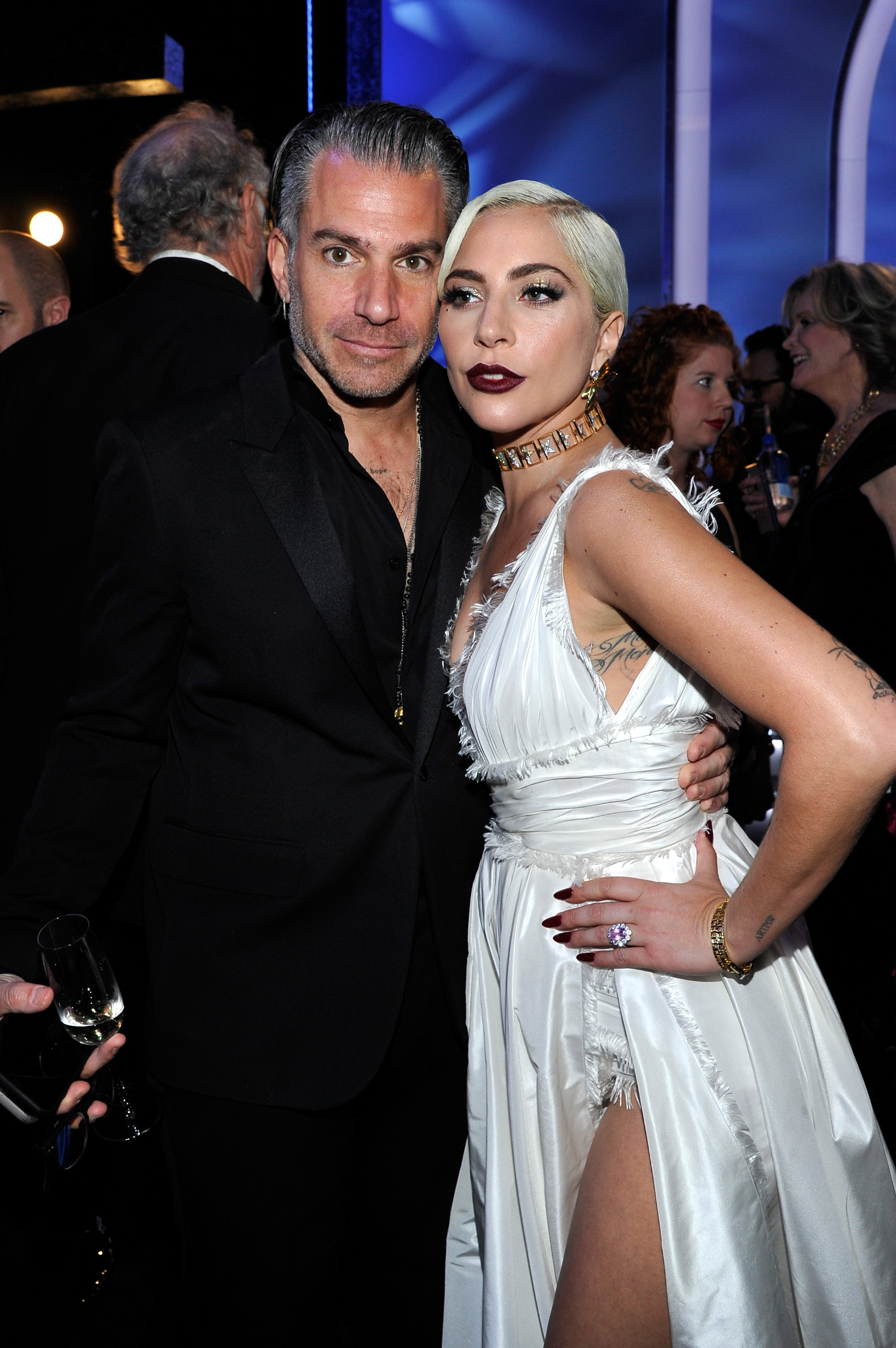 LOS ANGELES, CA - JANUARY 27:  Christian Carino (L) and Lady Gaga attend the 25th Annual Screen ActorsGuild Awards at The Shrine Auditorium on January 27, 2019 in Los Angeles, California. 480720  (Photo by John Sciulli/Getty Images for Turner)