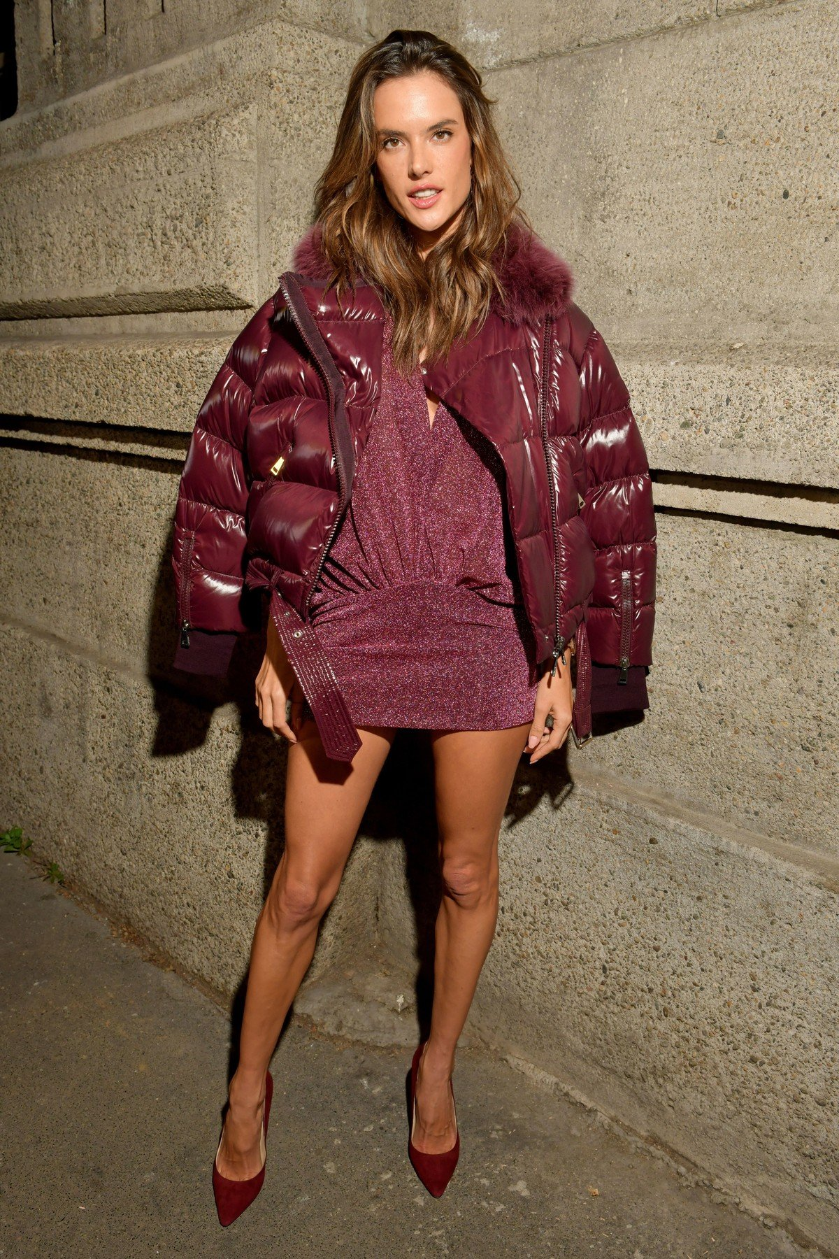 Alessandra Ambrosio in the front row Moncler Genius show, Front Row, Fall Winter 2019, Milan Fashion Week, Italy - 20 Feb 2019, Image: 414945220, License: Rights-managed, Restrictions: , Model Release: no, Credit line: Profimedia, TEMP Rex Features
