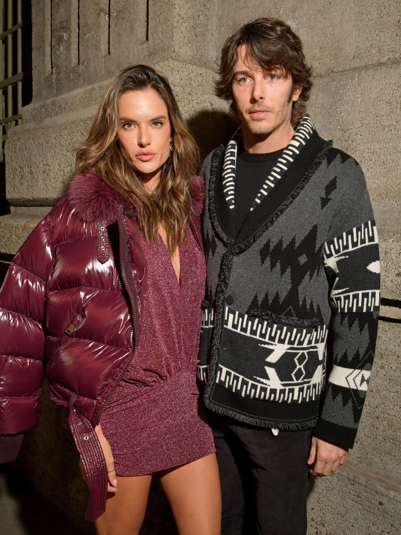 Alessandra Ambrosio and Nicolo Oddi in the front row Moncler Genius show, Front Row, Fall Winter 2019, Milan Fashion Week, Italy - 20 Feb 2019, Image: 414945914, License: Rights-managed, Restrictions: , Model Release: no, Credit line: Profimedia, TEMP Rex Features
